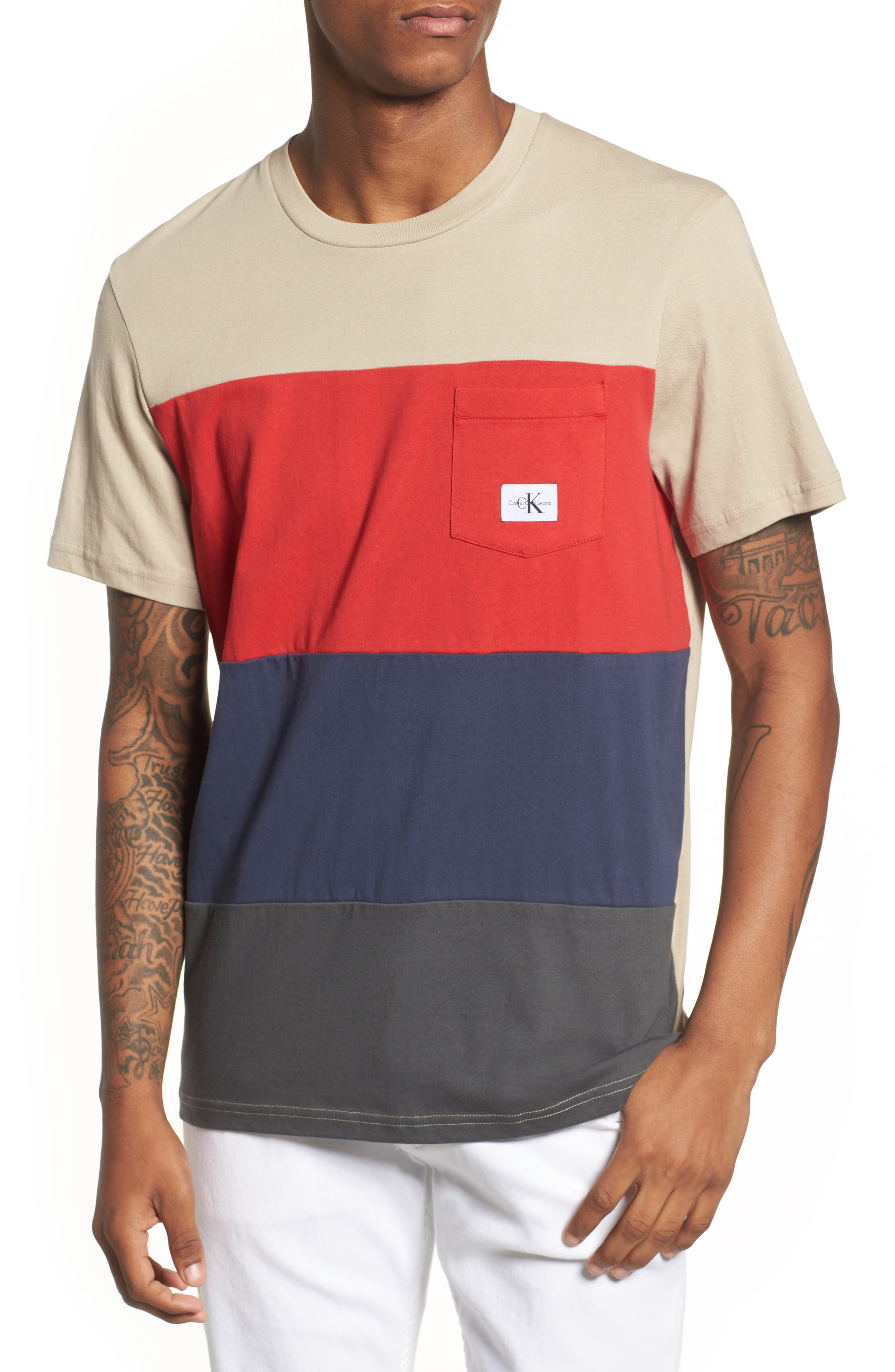 Calvin Klein Colorblocked Pocket T-Shirt