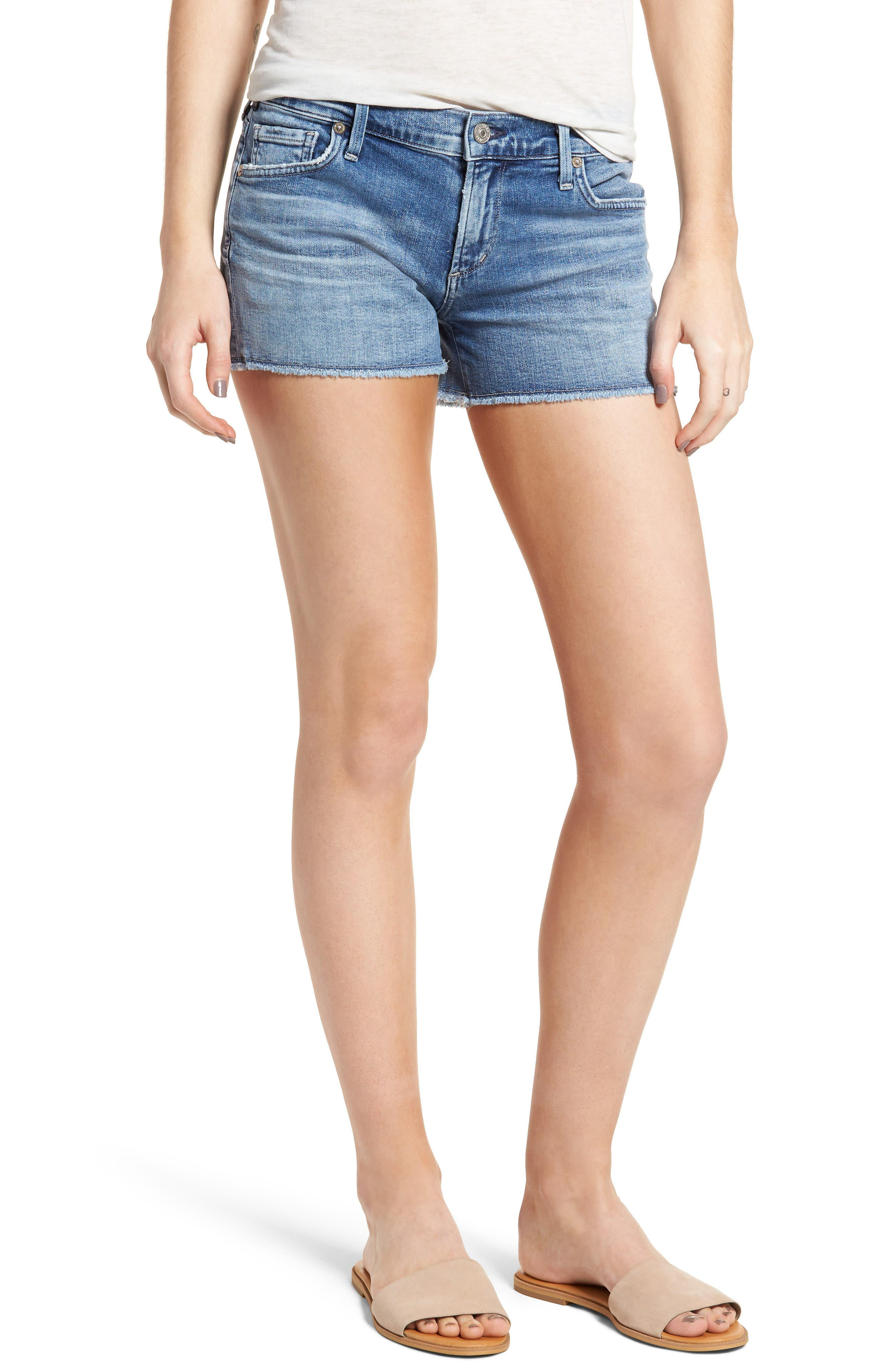 Alternate Image 1 Selected - Citizens of Humanity Ava Cutoff Denim Shorts (Pacifica)