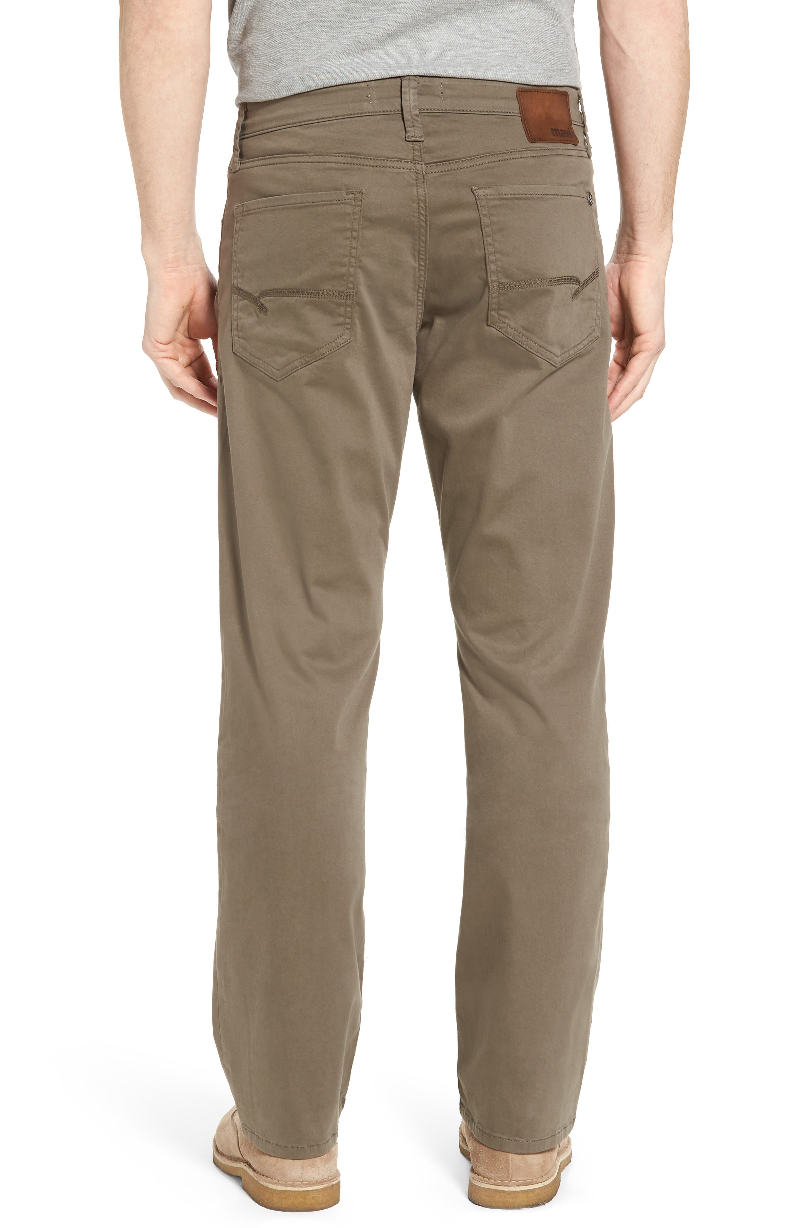 Matt Relaxed Fit Twill Pants,                             Alternate thumbnail 2, color,                             Dusty Olive