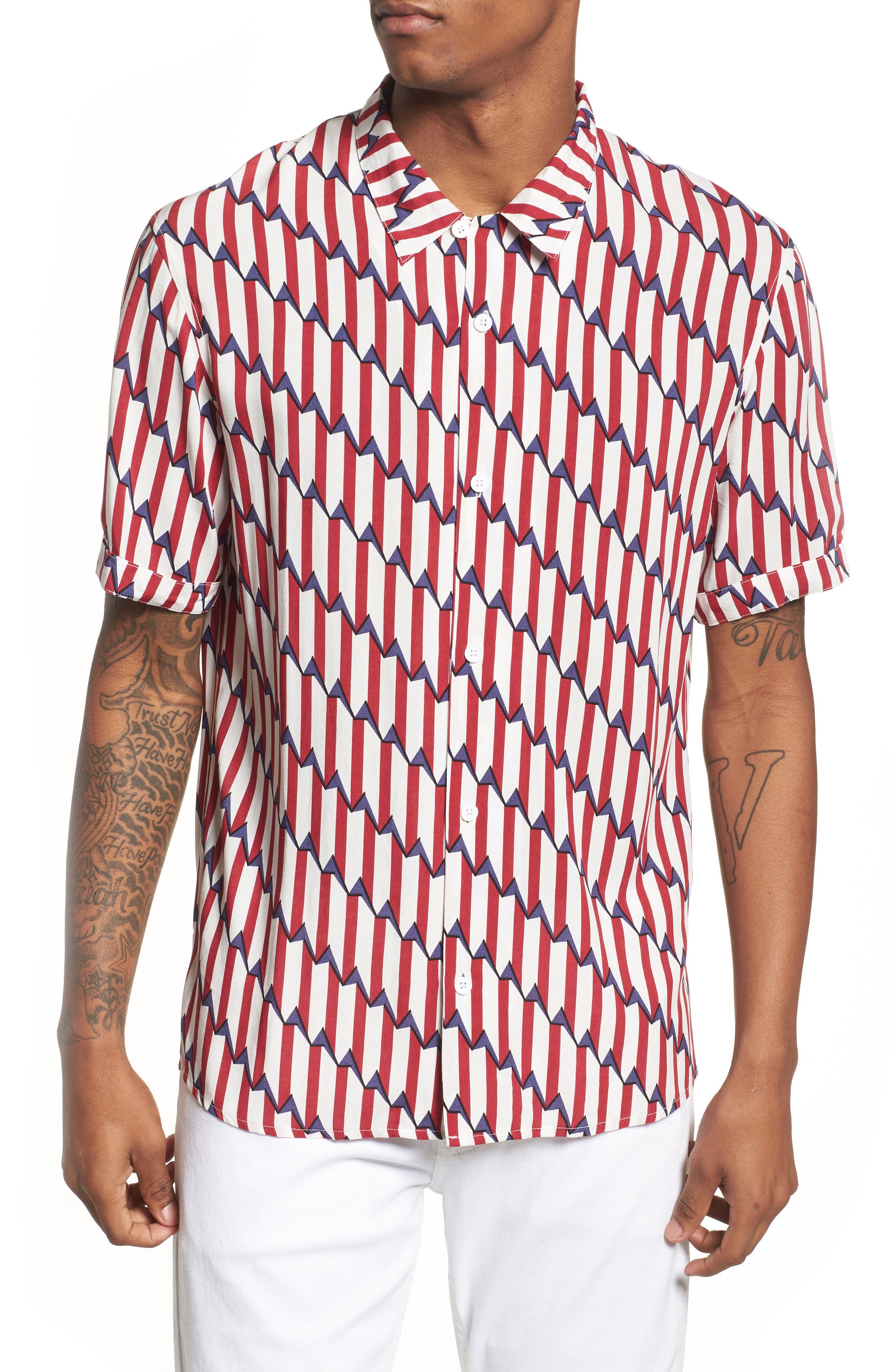 ELEVENPARIS Shopy Print Woven Shirt