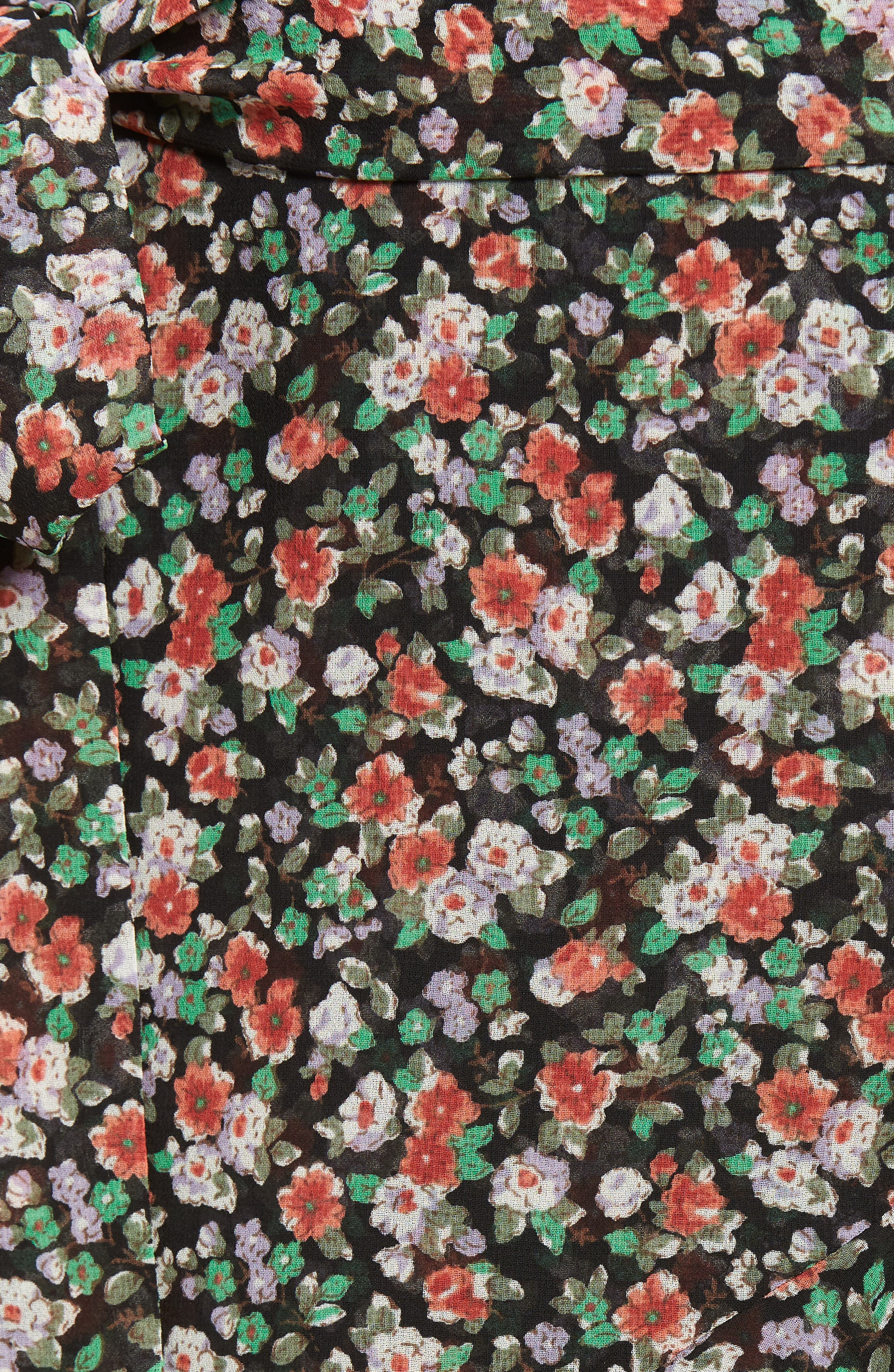 Alice Faux Wrap Skirt,                             Alternate thumbnail 5, color,                             Black Multi