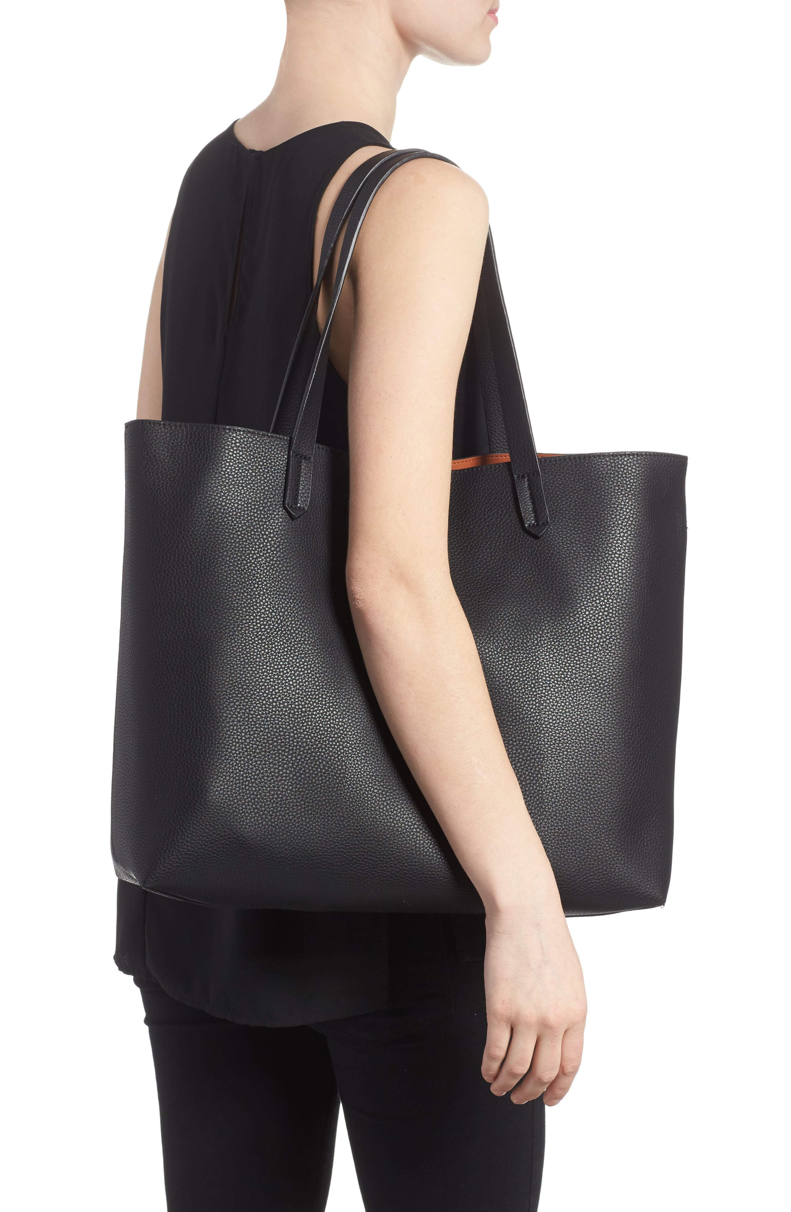 Alternate Image 2  - BP. Contrast Lining Faux Leather Tote