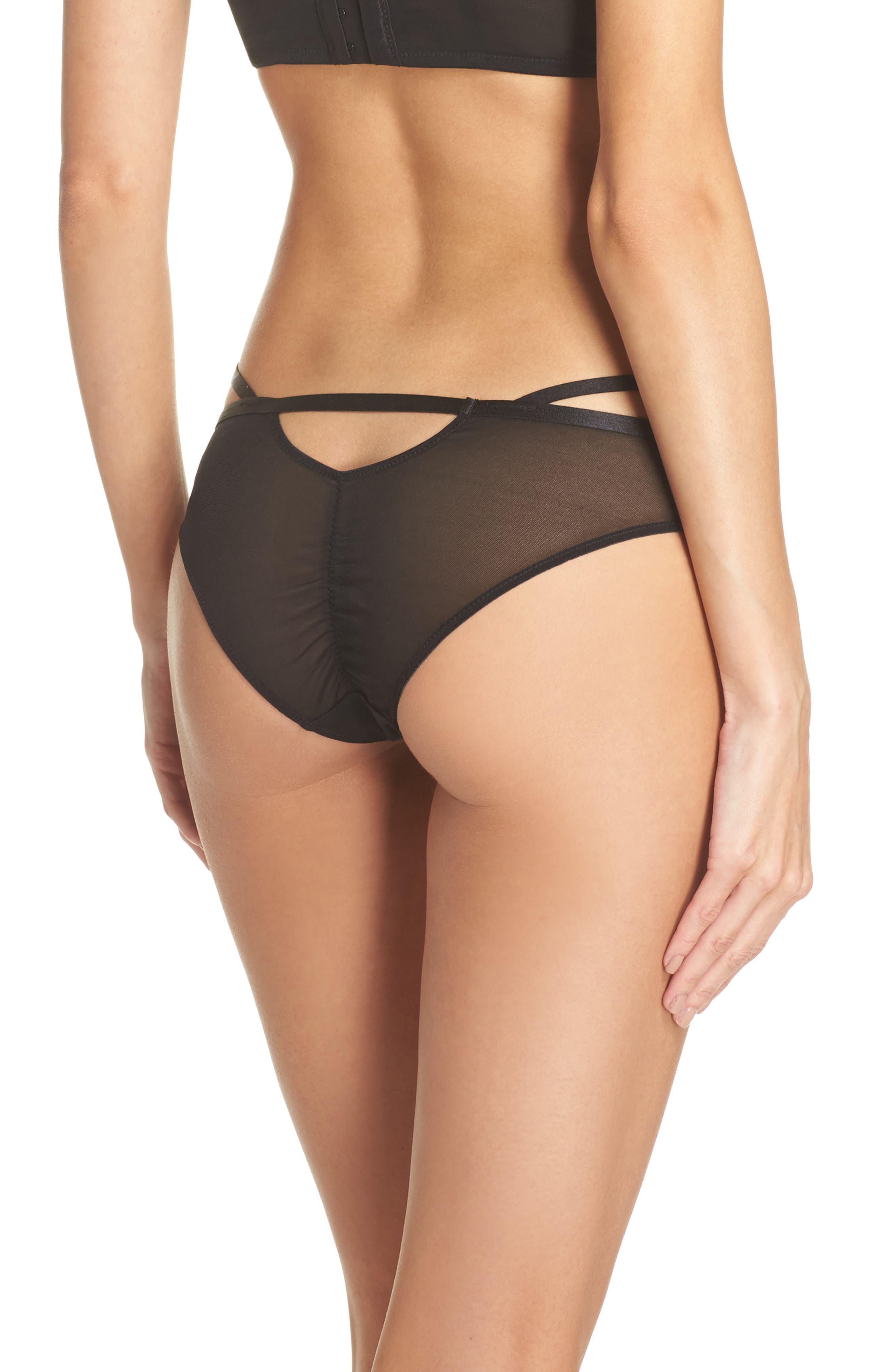 Gabriela Brazilian Panties,                             Alternate thumbnail 2, color,                             Black/Pink