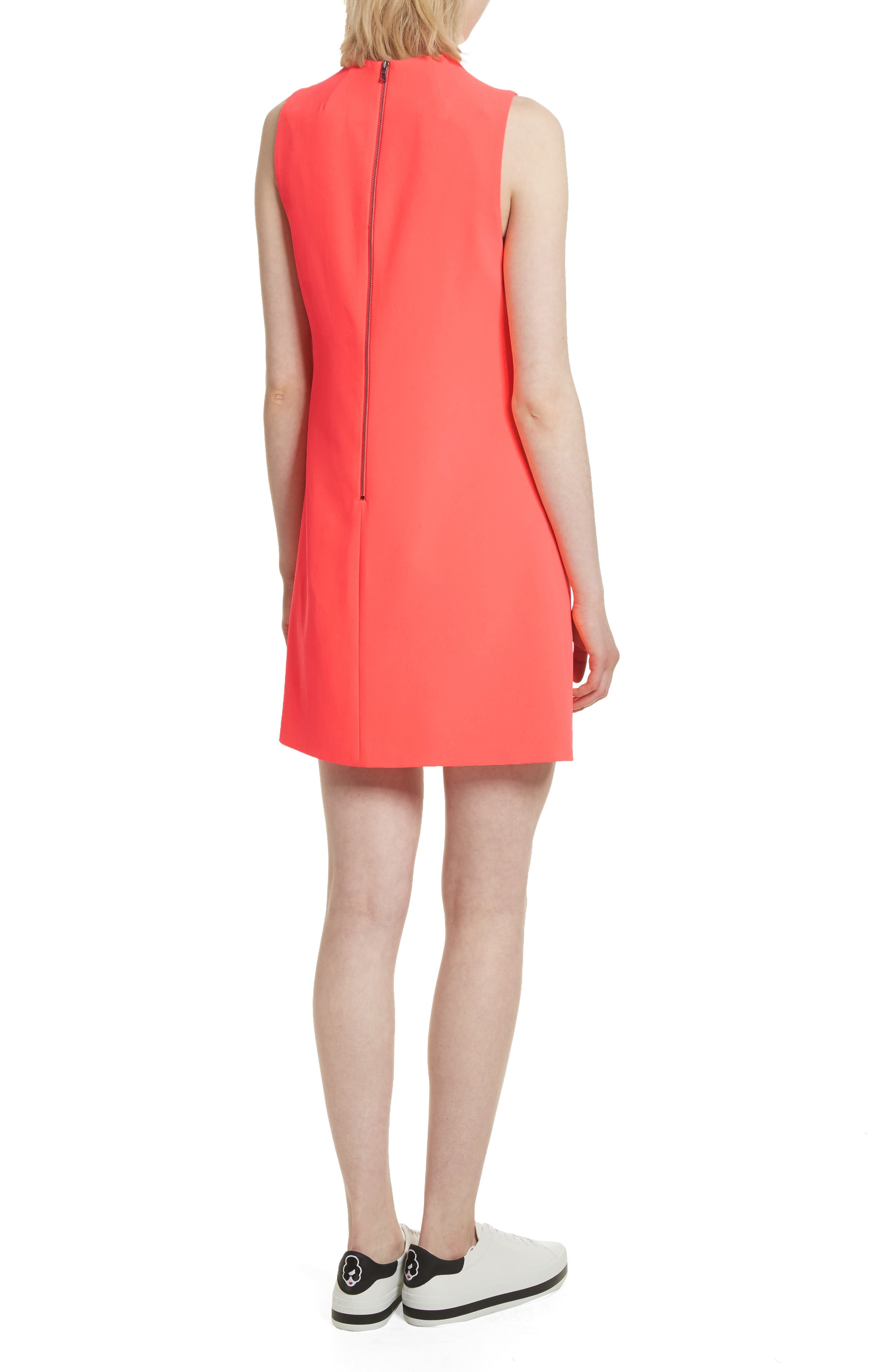 Coley A-Line Shift Dress,                             Alternate thumbnail 2, color,                             Neon Coral