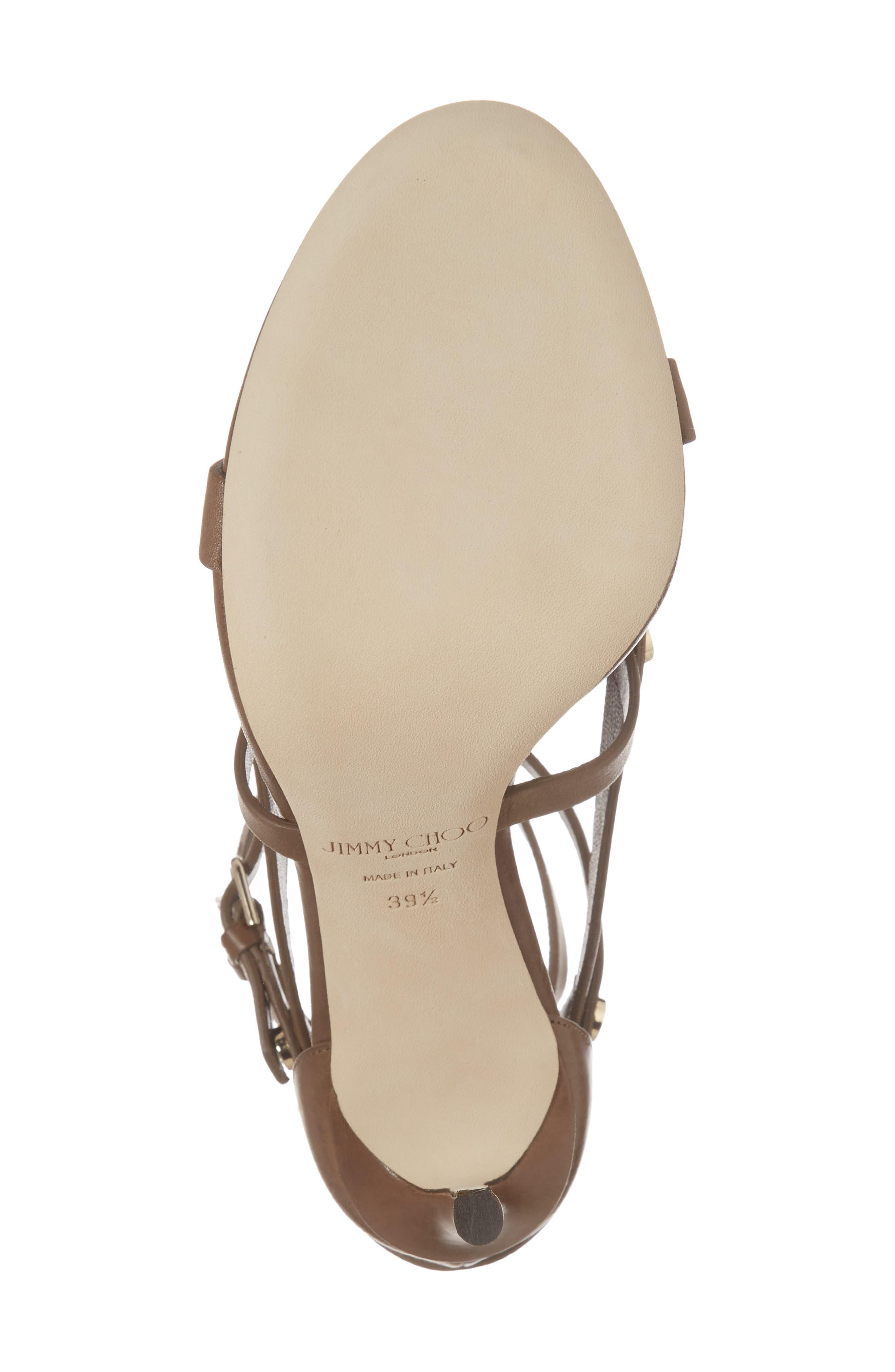 Motoko Studded Cage Sandal,                             Alternate thumbnail 6, color,                             Cacao Brown