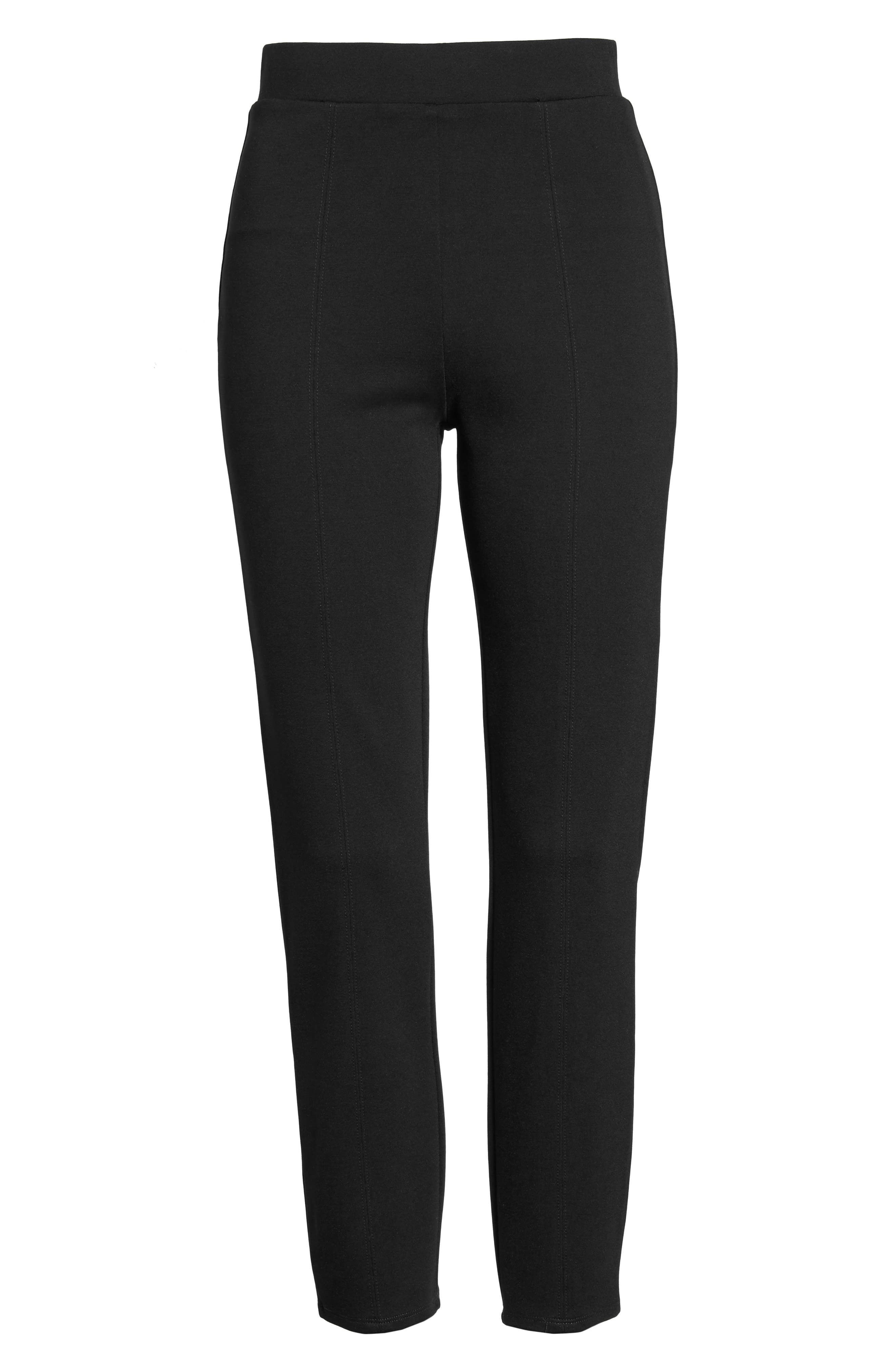 Macklin Ponte Leggings,                             Alternate thumbnail 6, color,                             Black