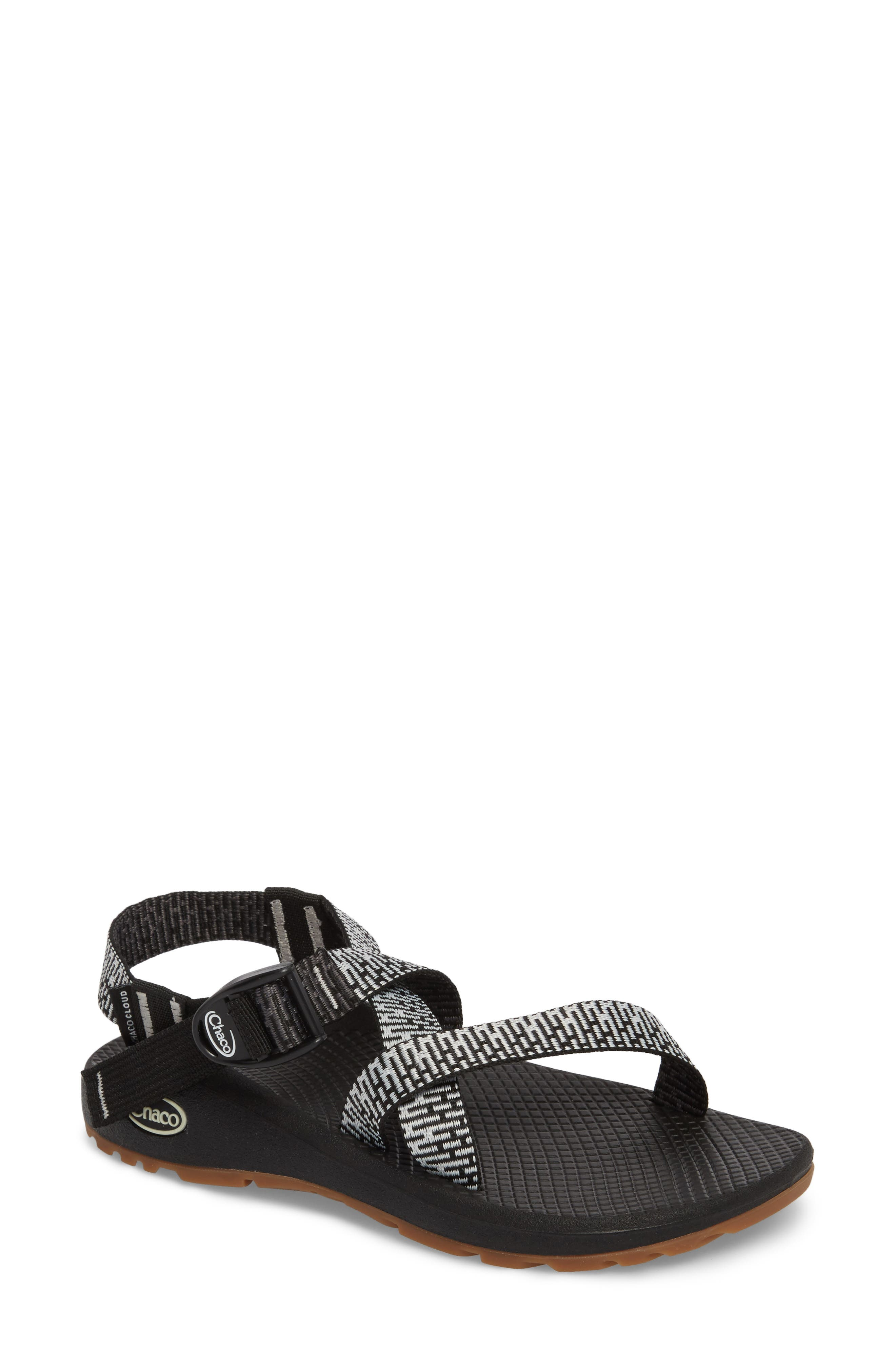 Z/Cloud Sandal,                         Main,                         color, Penny Black