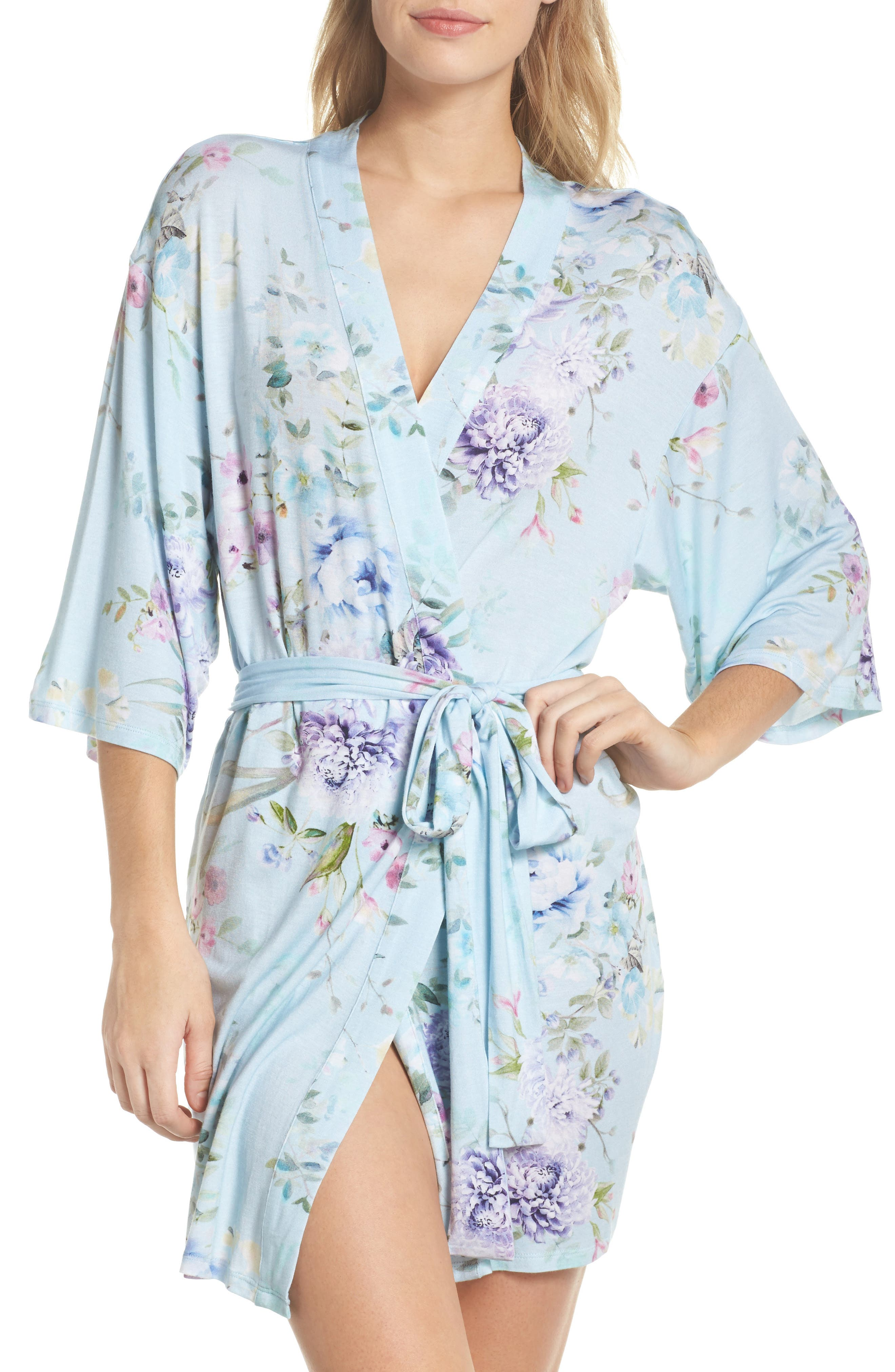 Lilith Short Robe,                             Main thumbnail 1, color,                             Blue