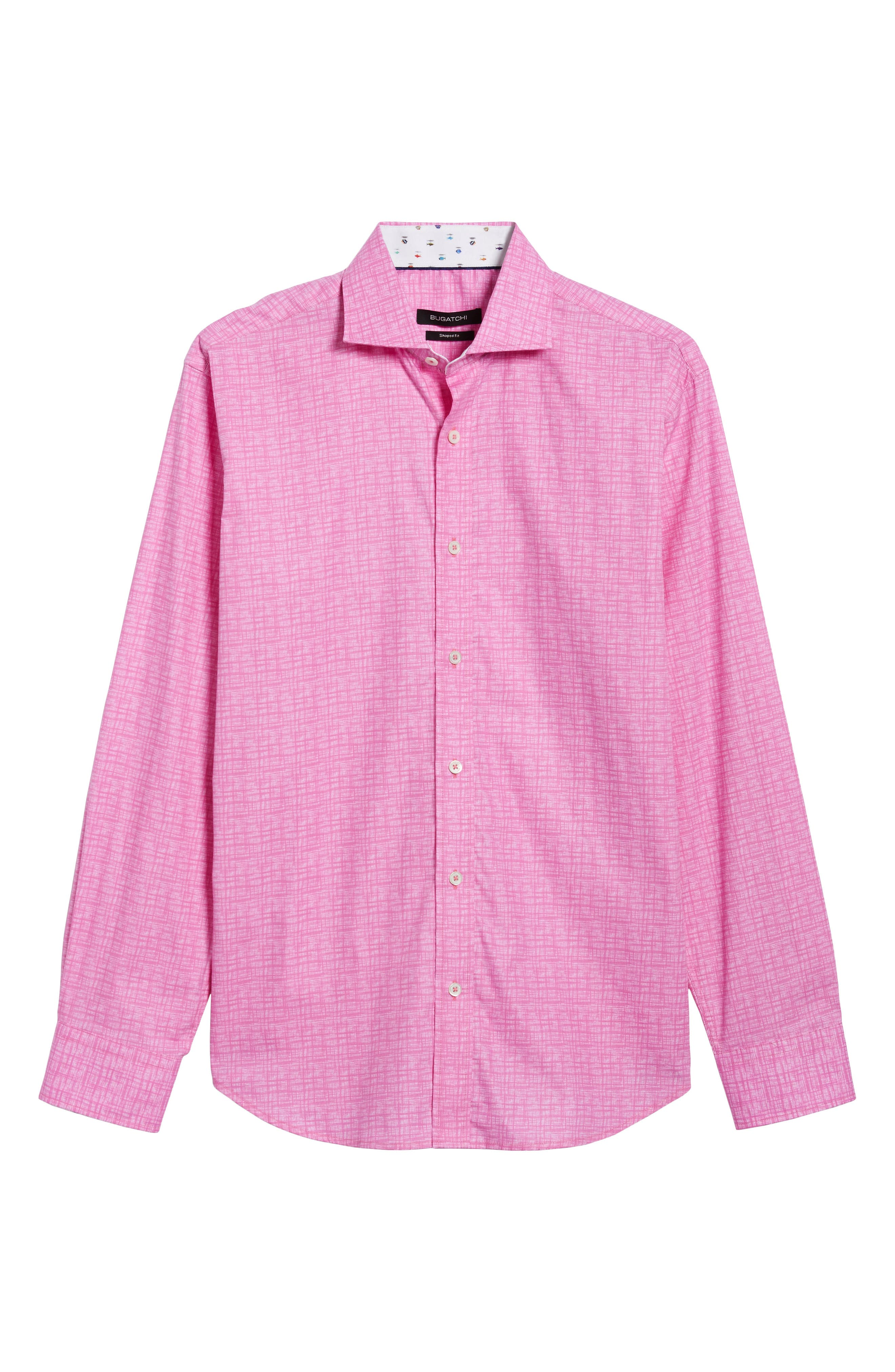 Freehand Shaped Fit Sport Shirt,                             Alternate thumbnail 11, color,                             Pink
