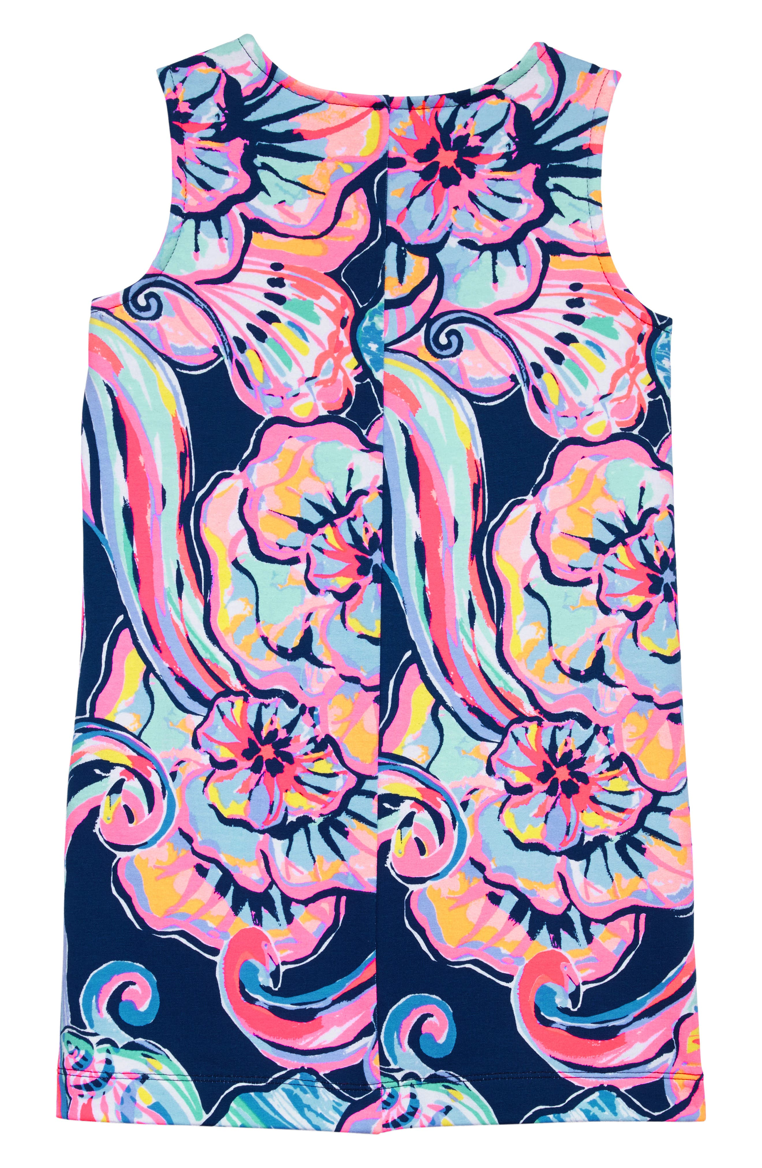 Mini Harper Shift Dress,                             Alternate thumbnail 2, color,                             Nauti Navy Boho Bateau