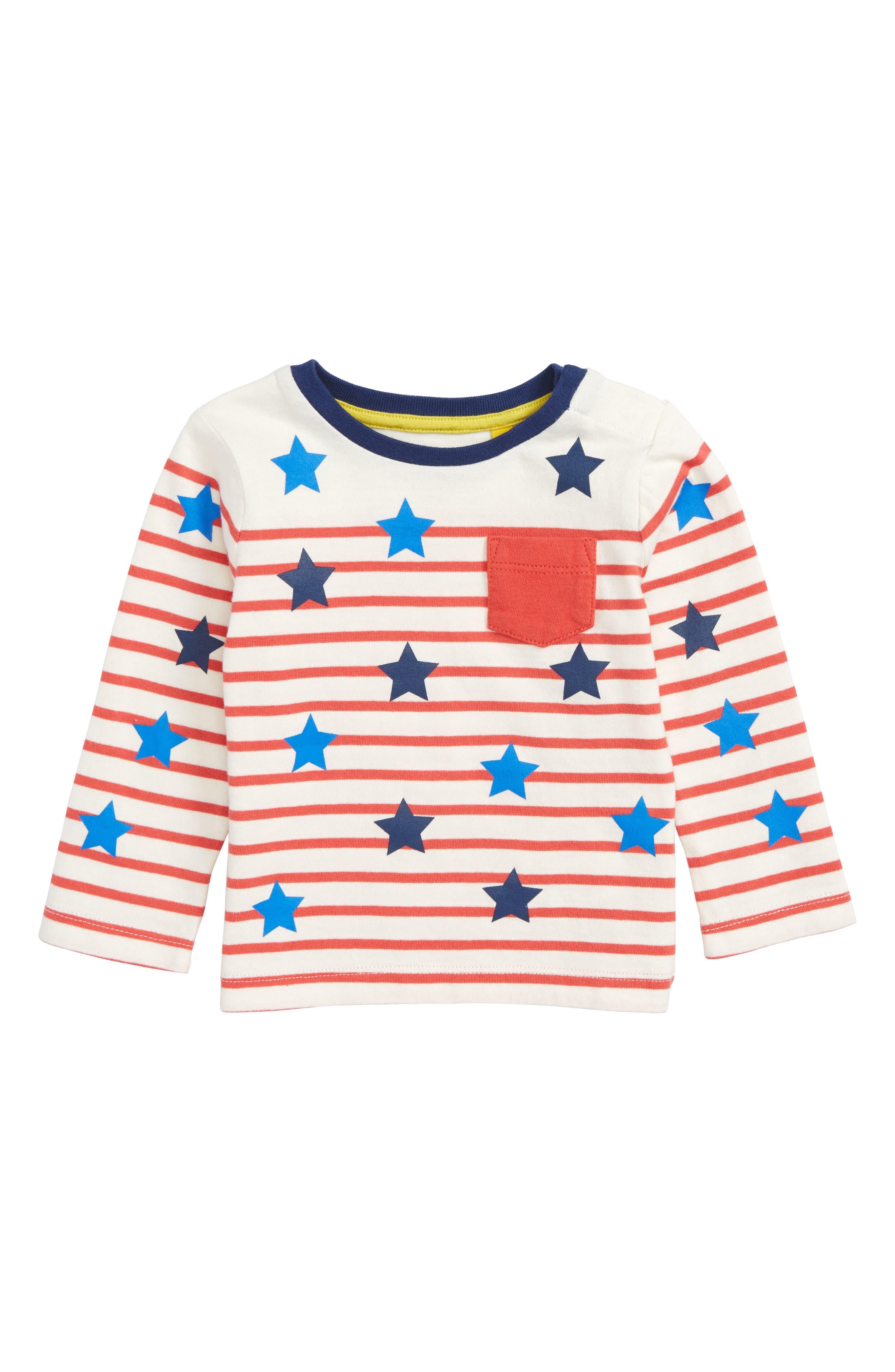 Alternate Image 1 Selected - Mini Boden Fun Breton T-Shirt (Baby Boys & Toddler Boys)