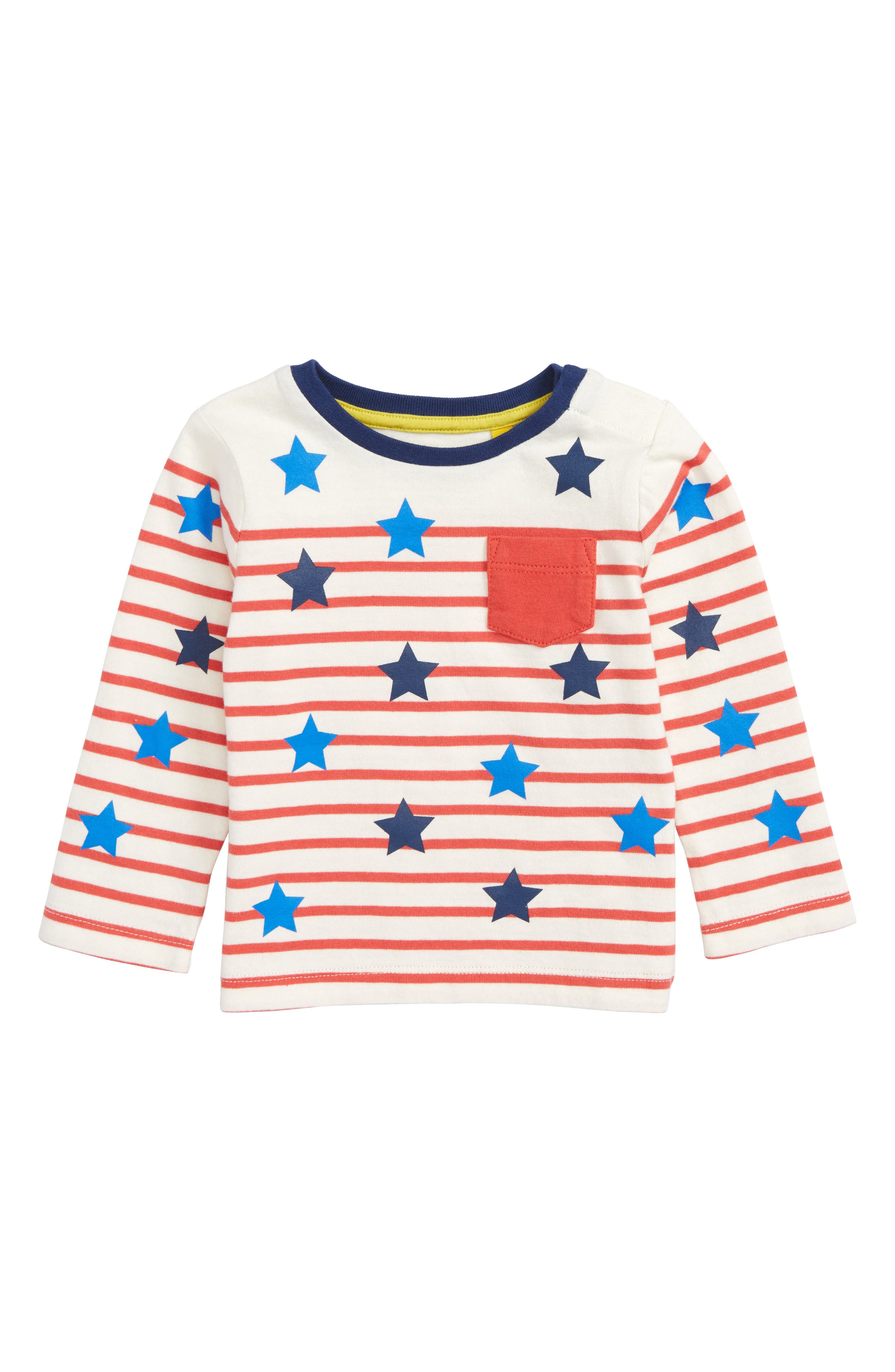 Main Image - Mini Boden Fun Breton T-Shirt (Baby Boys & Toddler Boys)