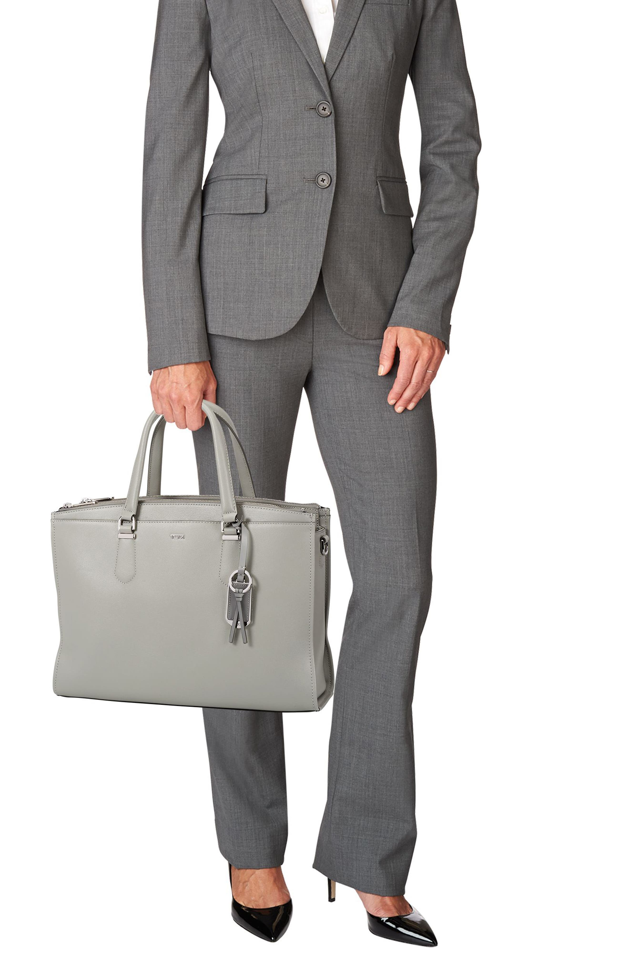 Stanton – Esme Leather Business Briefcase,                             Alternate thumbnail 2, color,                             Light Grey