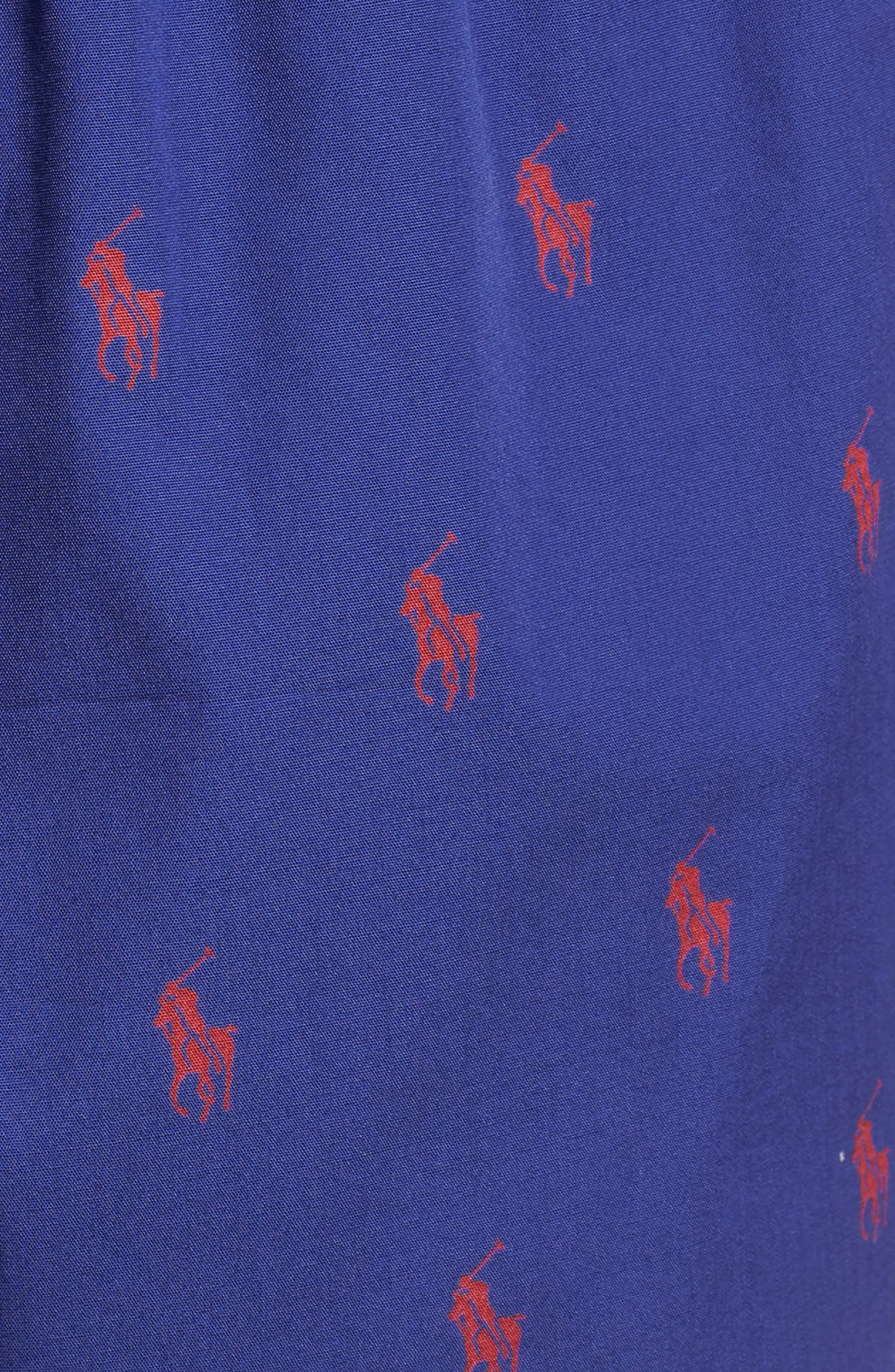 Cotton Boxers,                             Alternate thumbnail 5, color,                             Bright Navy/ Sunrise Red