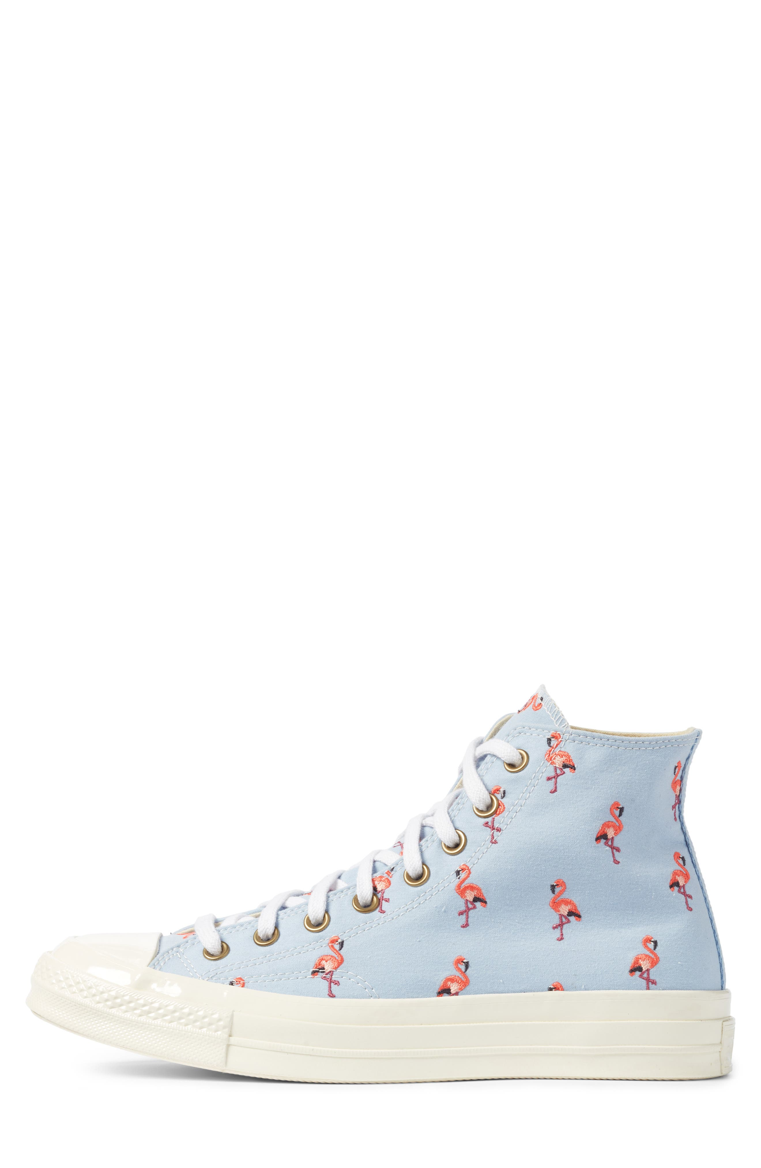 Chuck Taylor<sup>®</sup> All Star<sup>®</sup> Chuck 70 Flamingo Sneaker,                             Alternate thumbnail 3, color,                             Blue Chili