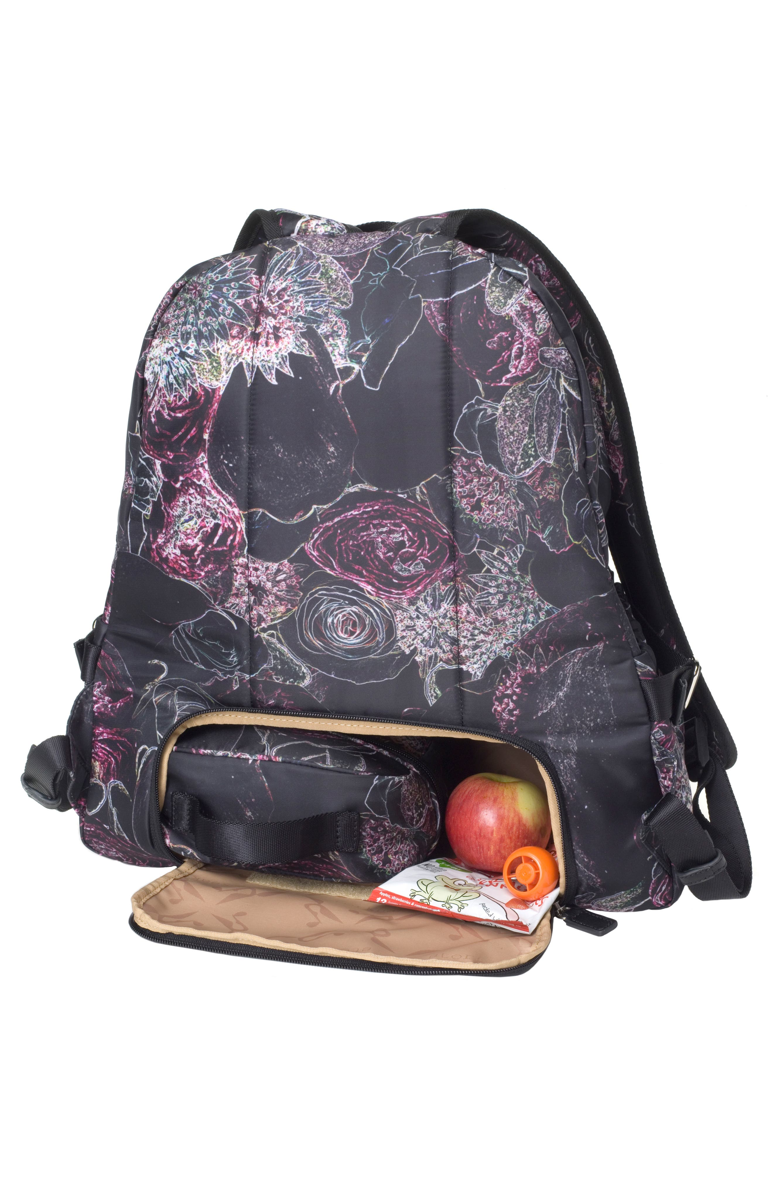 Hero Water Resistant Nylon Backpack Diaper Bag,                             Alternate thumbnail 13, color,                             Neon Floral