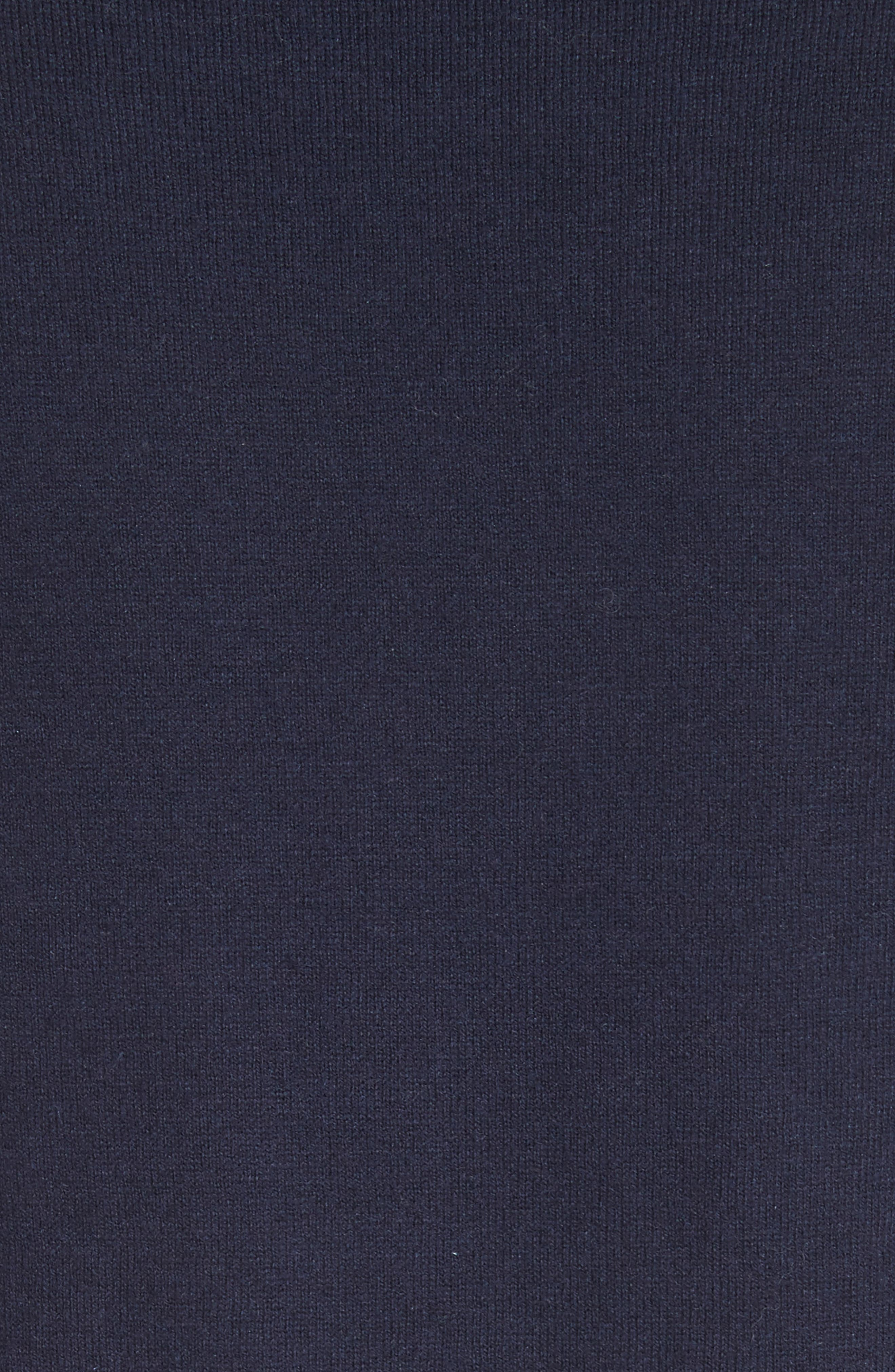eyelet hem sweater,                             Alternate thumbnail 5, color,                             Rich Navy