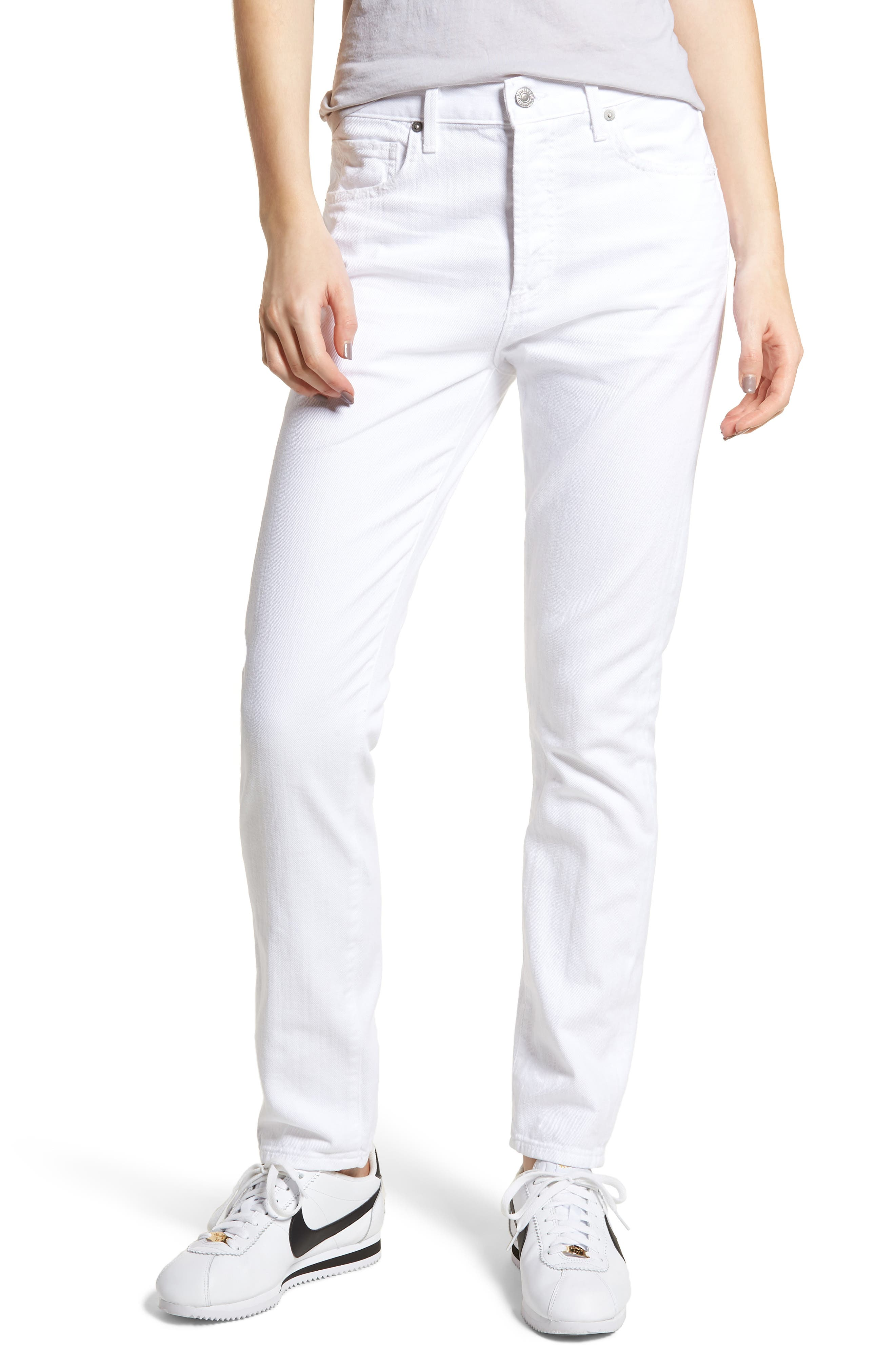 Corey Slouchy Slim Jeans,                             Main thumbnail 1, color,                             Distressed White