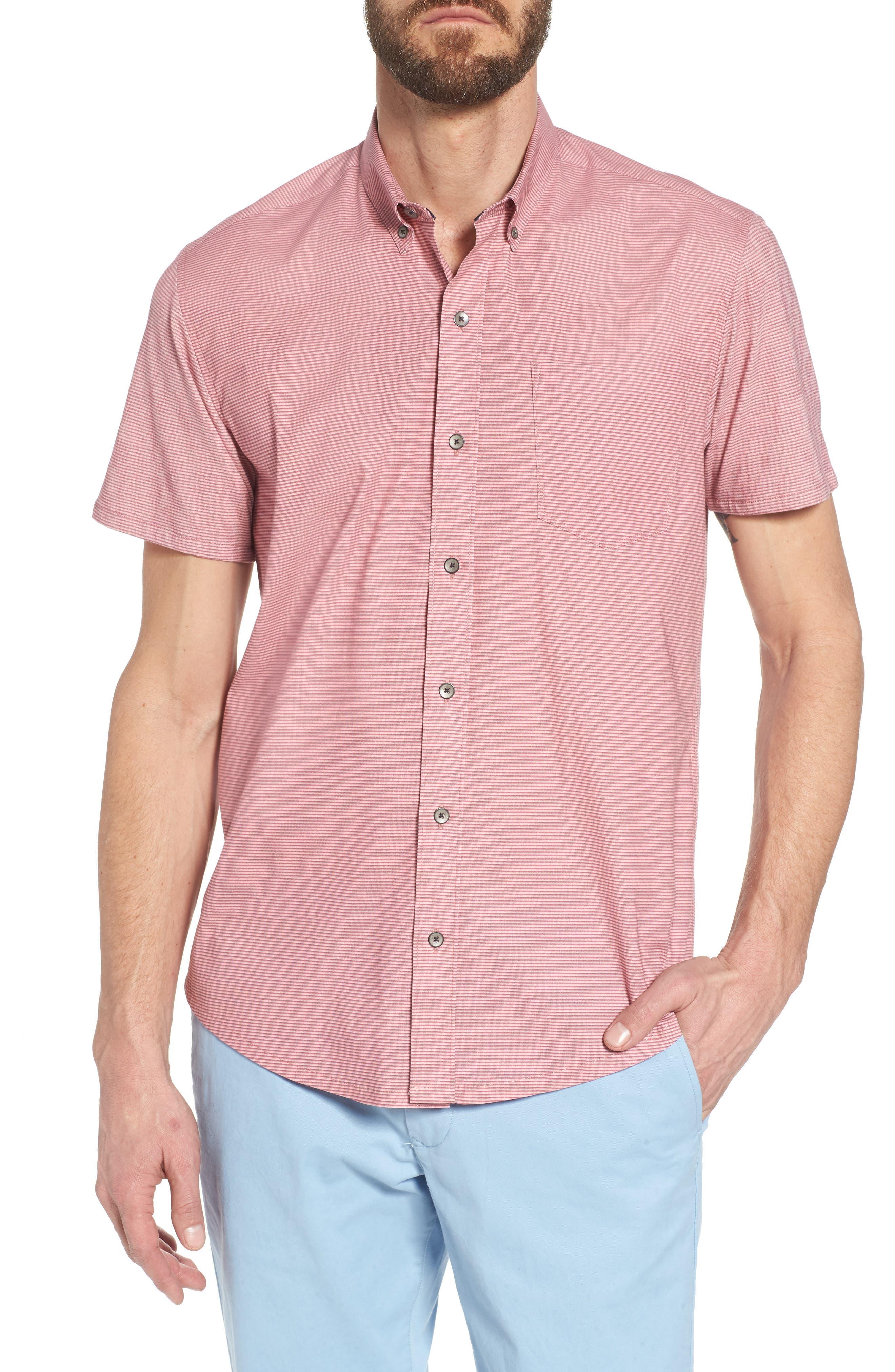 W.R.K Reworked Slim Fit Micro Stripe Sport Shirt