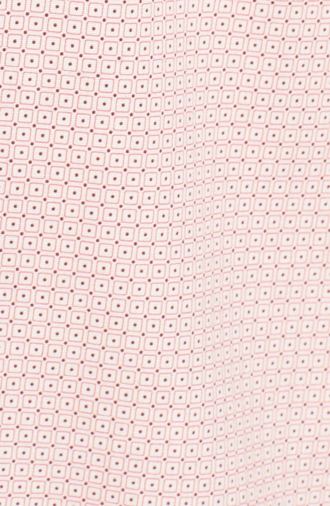 Square Slim Fit Dot Sport Shirt,                             Alternate thumbnail 5, color,                             Pink