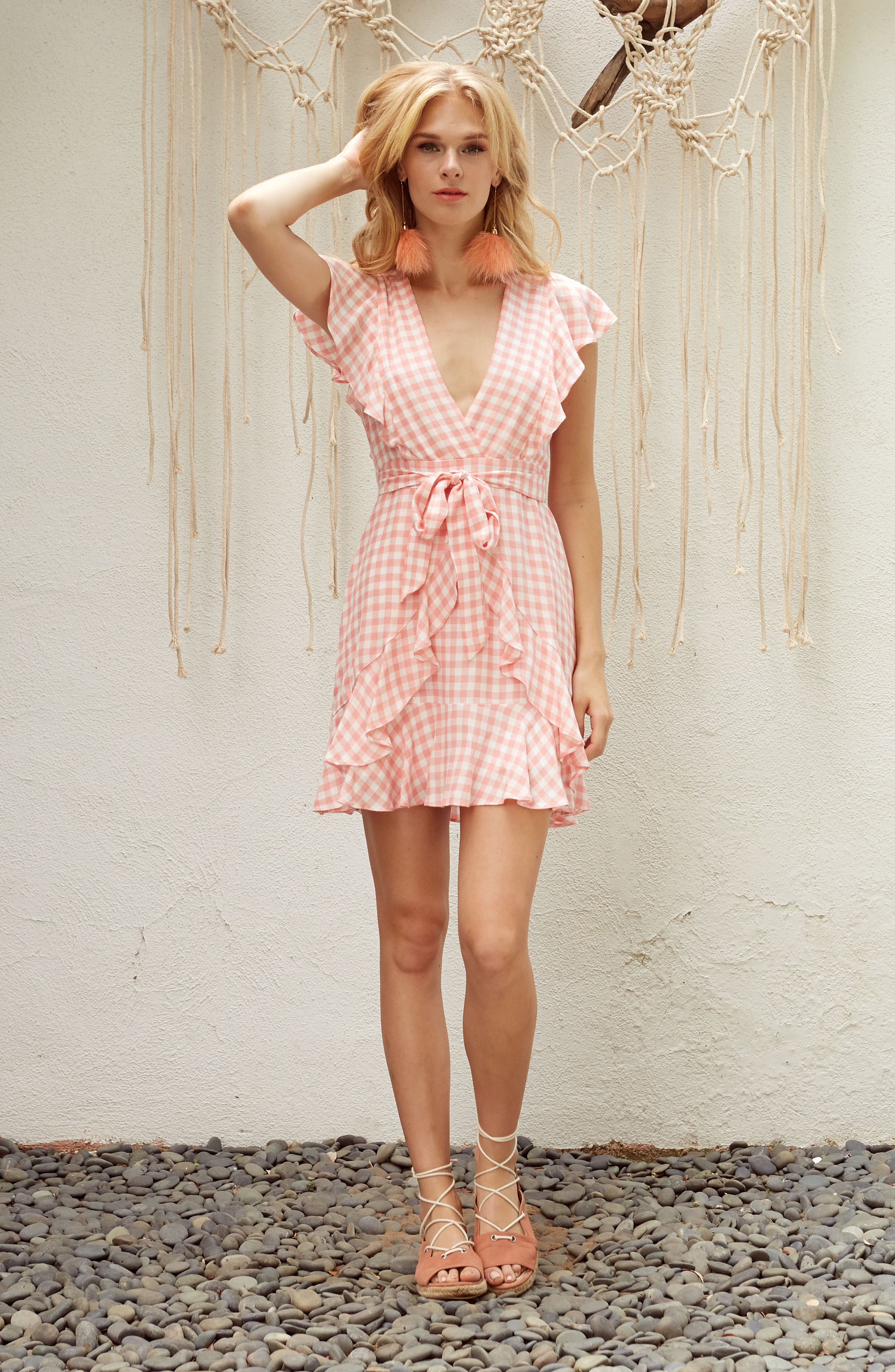 Alternate Image 2  - Lost + Wander Brunch Ruffle Gingham Dress
