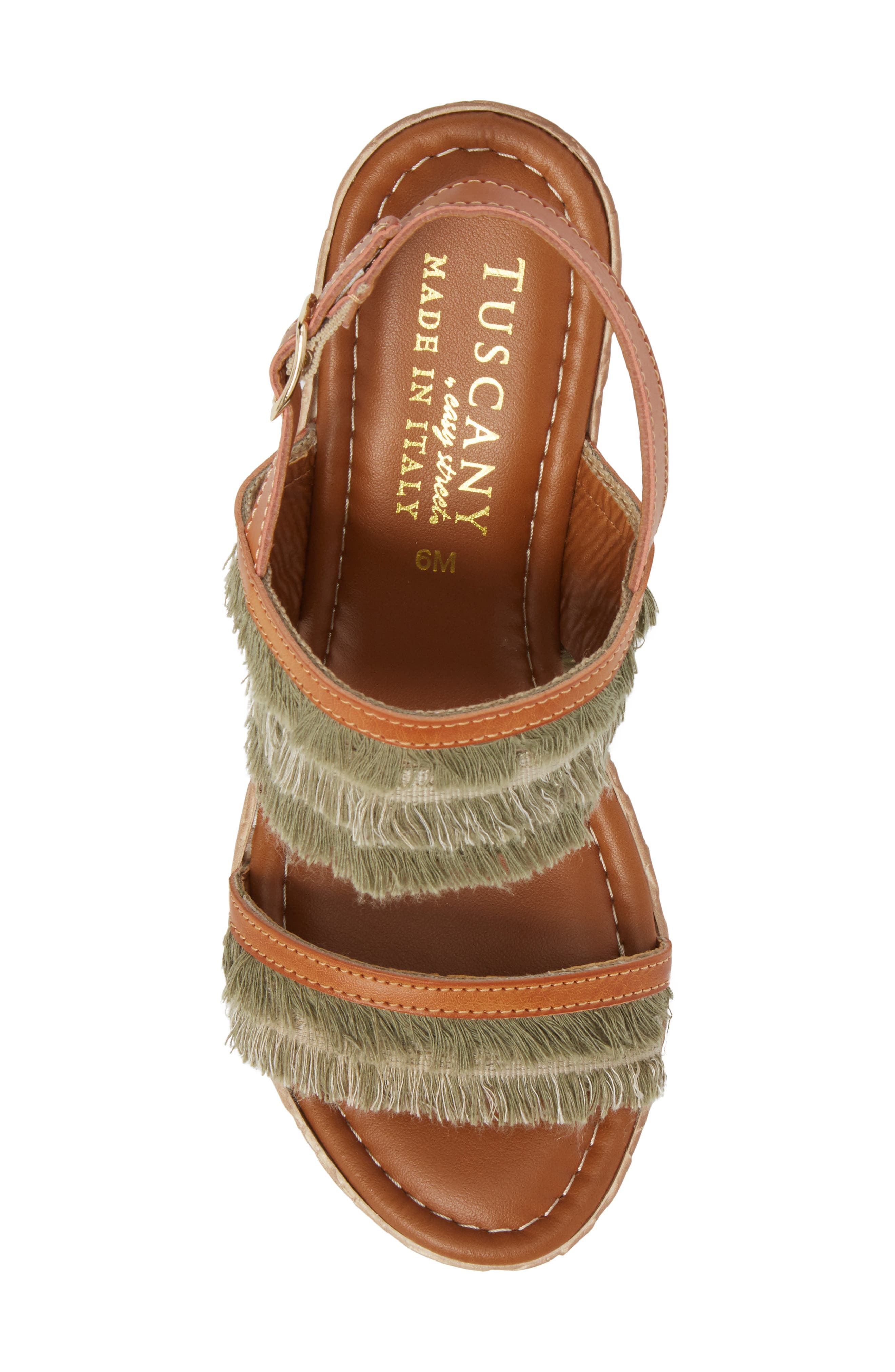 by Easy Street<sup>®</sup> Zaira Wedge Espadrille Sandal,                             Alternate thumbnail 5, color,                             Khaki Faux Leather