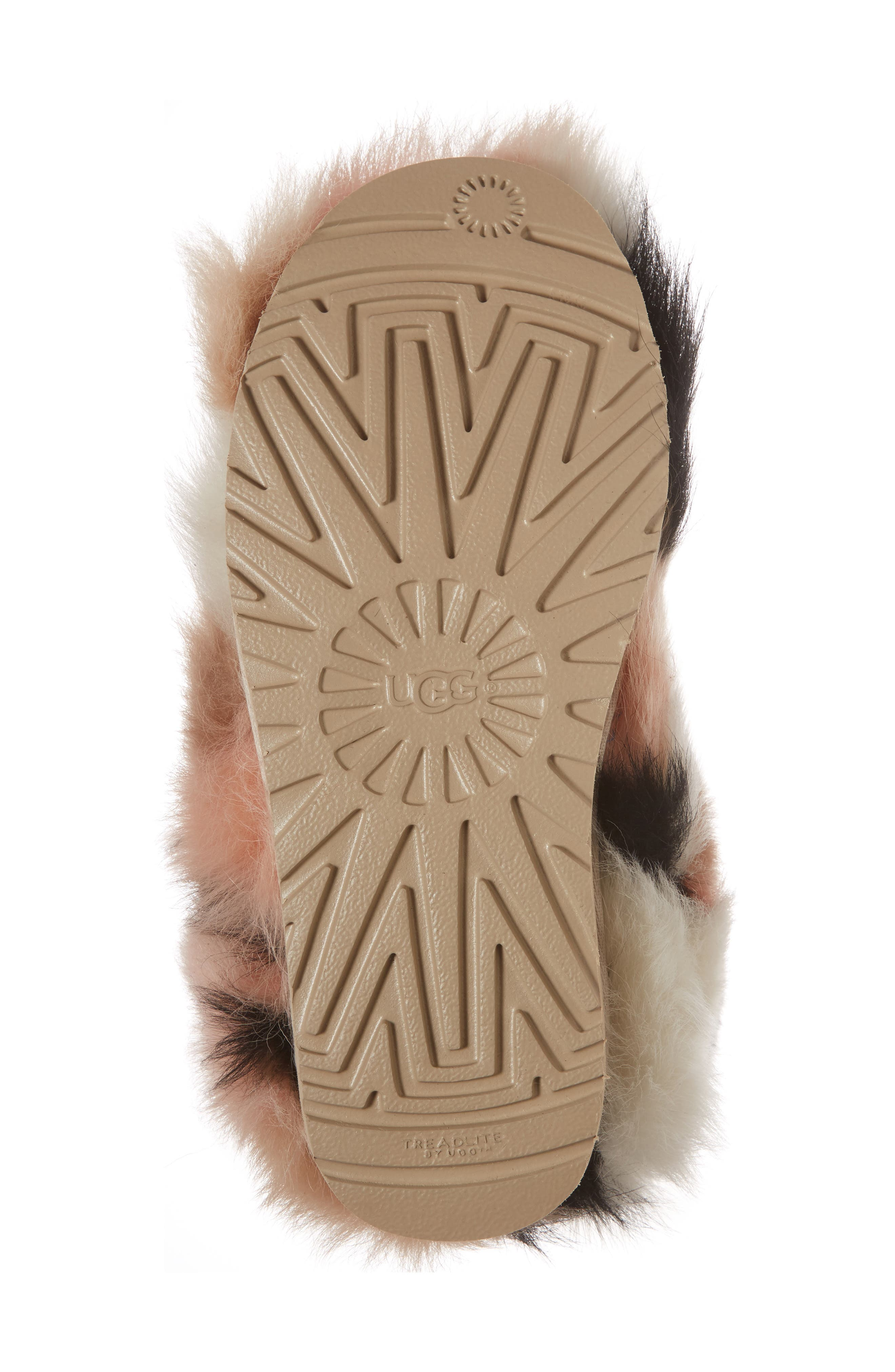 Shag It Crazy Genuine Toscana Shearling Classic Bootie,                             Alternate thumbnail 6, color,                             Natural