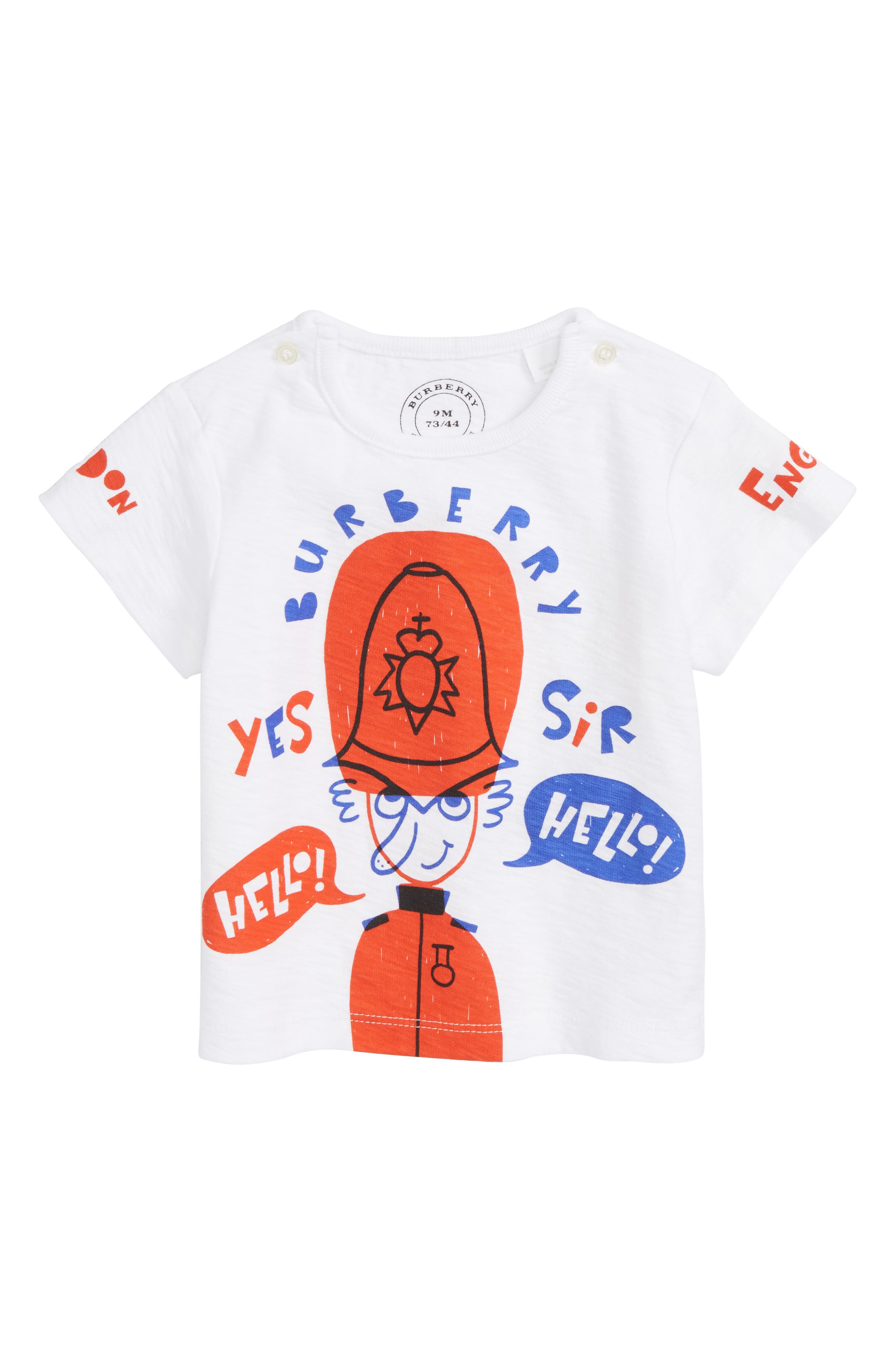 Hello Hello Graphic T-Shirt,                             Main thumbnail 1, color,                             White