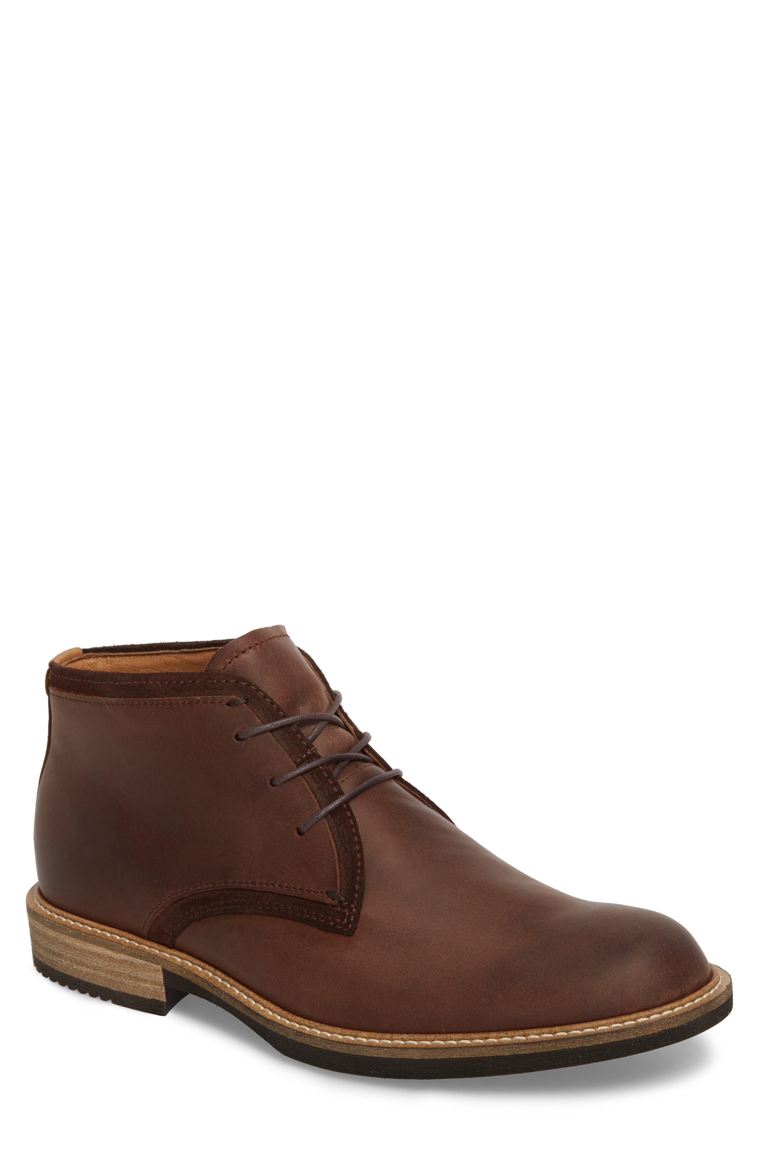 Kenton Derby Chukka Boot,                             Main thumbnail 1, color,                             Mink Leather