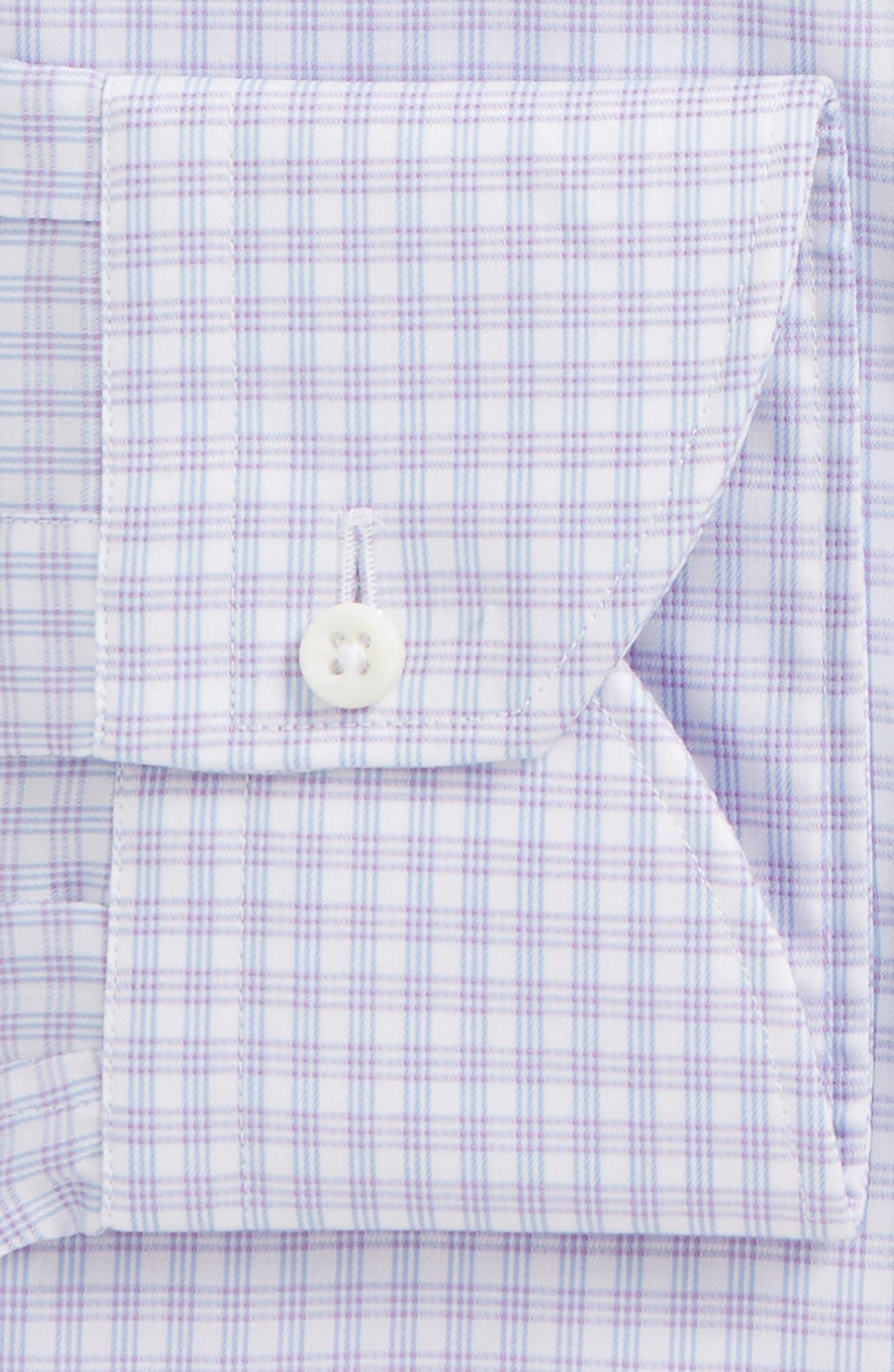 Regular Fit Check Dress Shirt,                             Alternate thumbnail 2, color,                             Purple