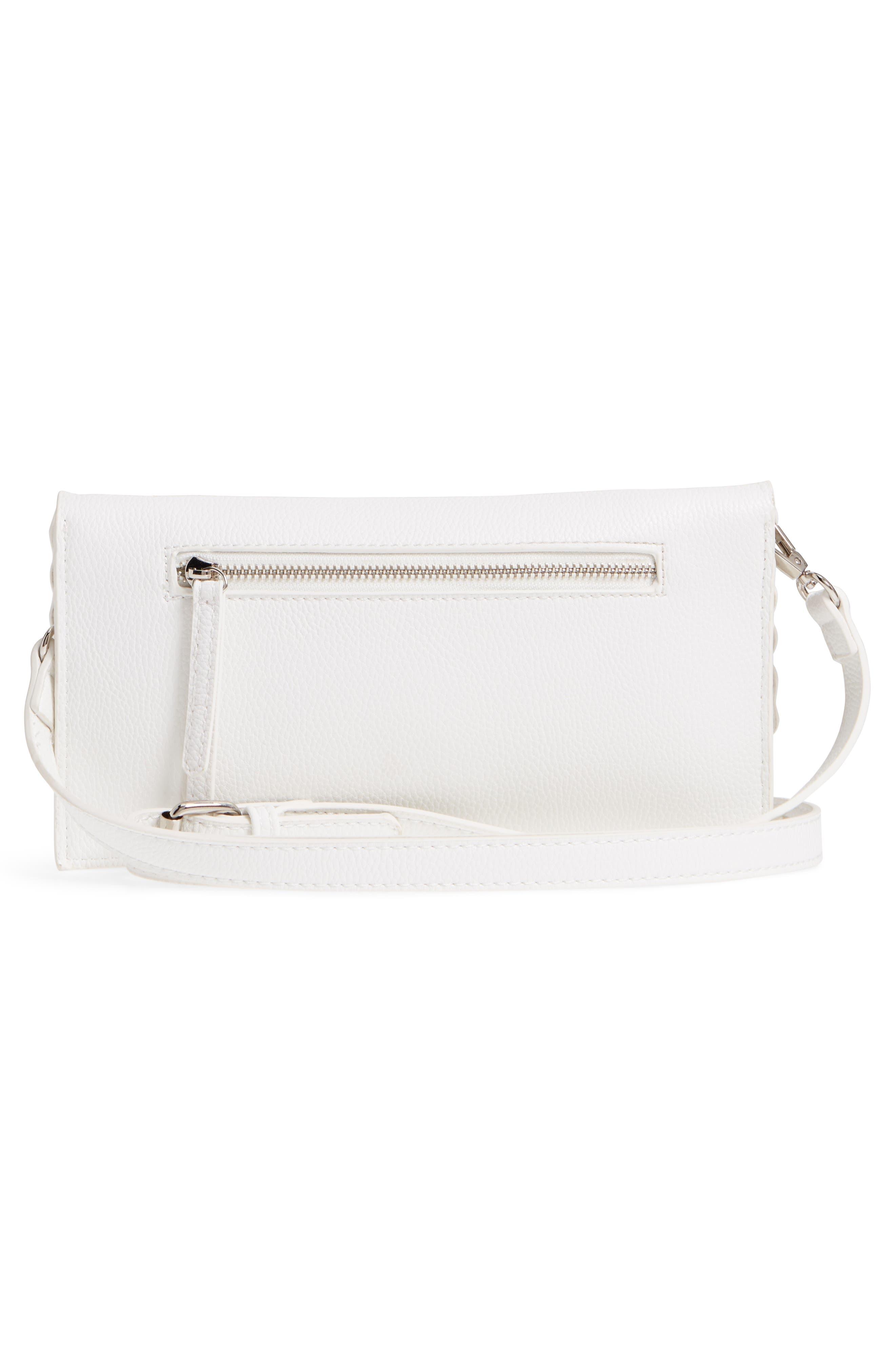 Grommet Convertible Crossbody Bag,                             Alternate thumbnail 3, color,                             White