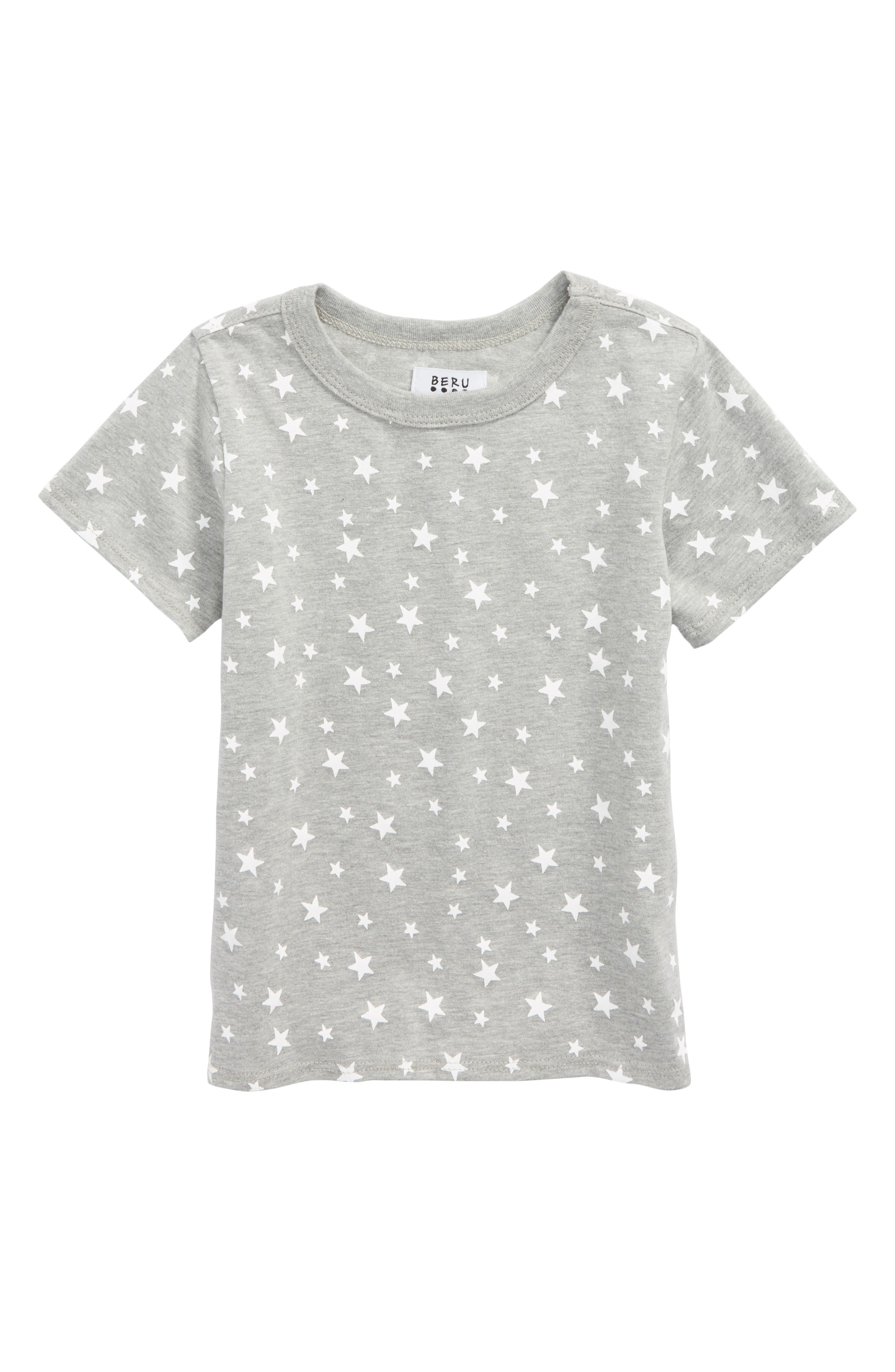 Enzo Star Print T-Shirt,                         Main,                         color, Heather Grey