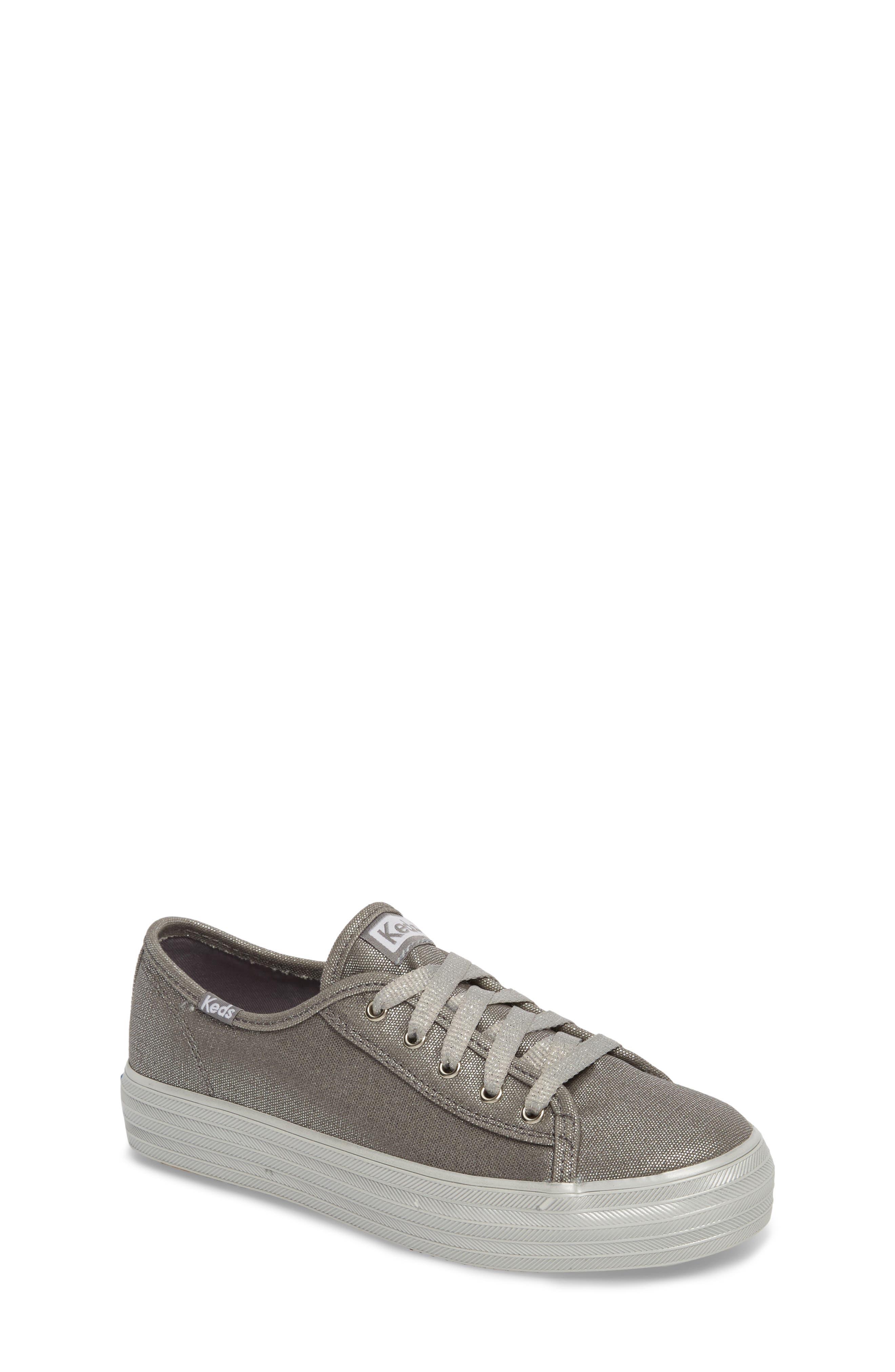 Triple Kick Platform Sneaker,                             Main thumbnail 1, color,                             Silver/ Silver