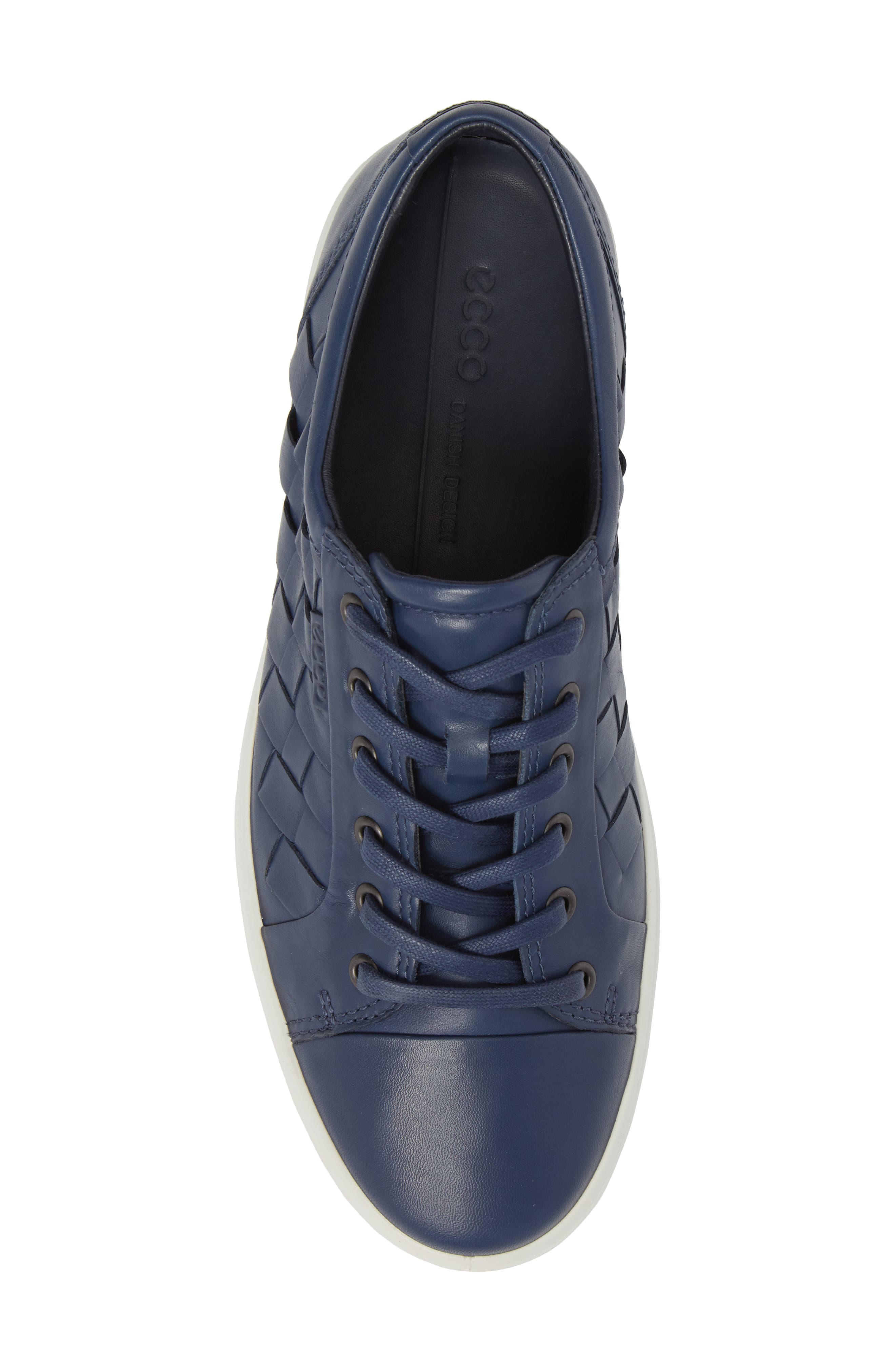 Soft 7 Woven Sneaker,                             Alternate thumbnail 5, color,                             True Navy Leather