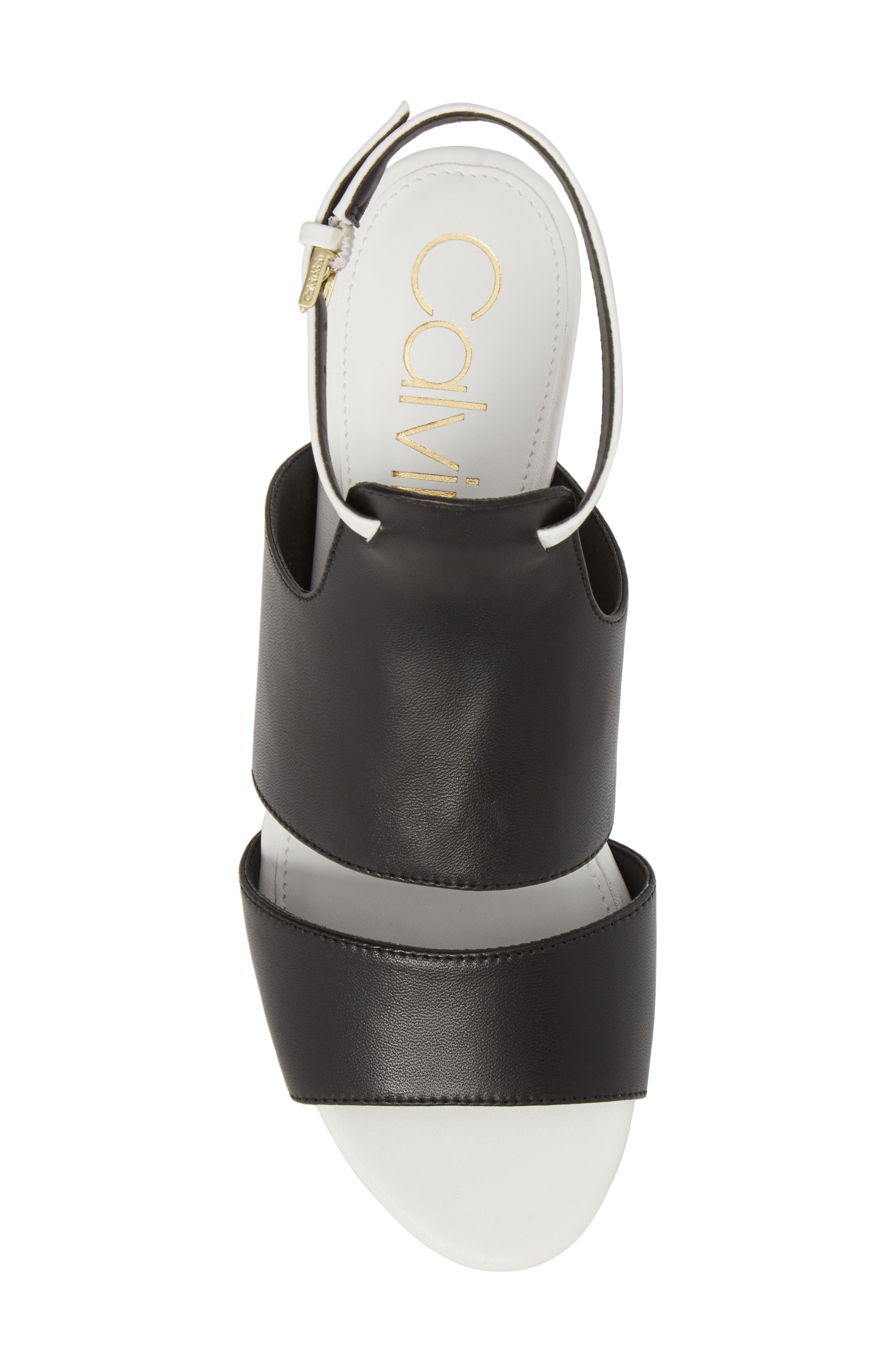 Fernarda Sandal,                             Alternate thumbnail 5, color,                             Black Leather