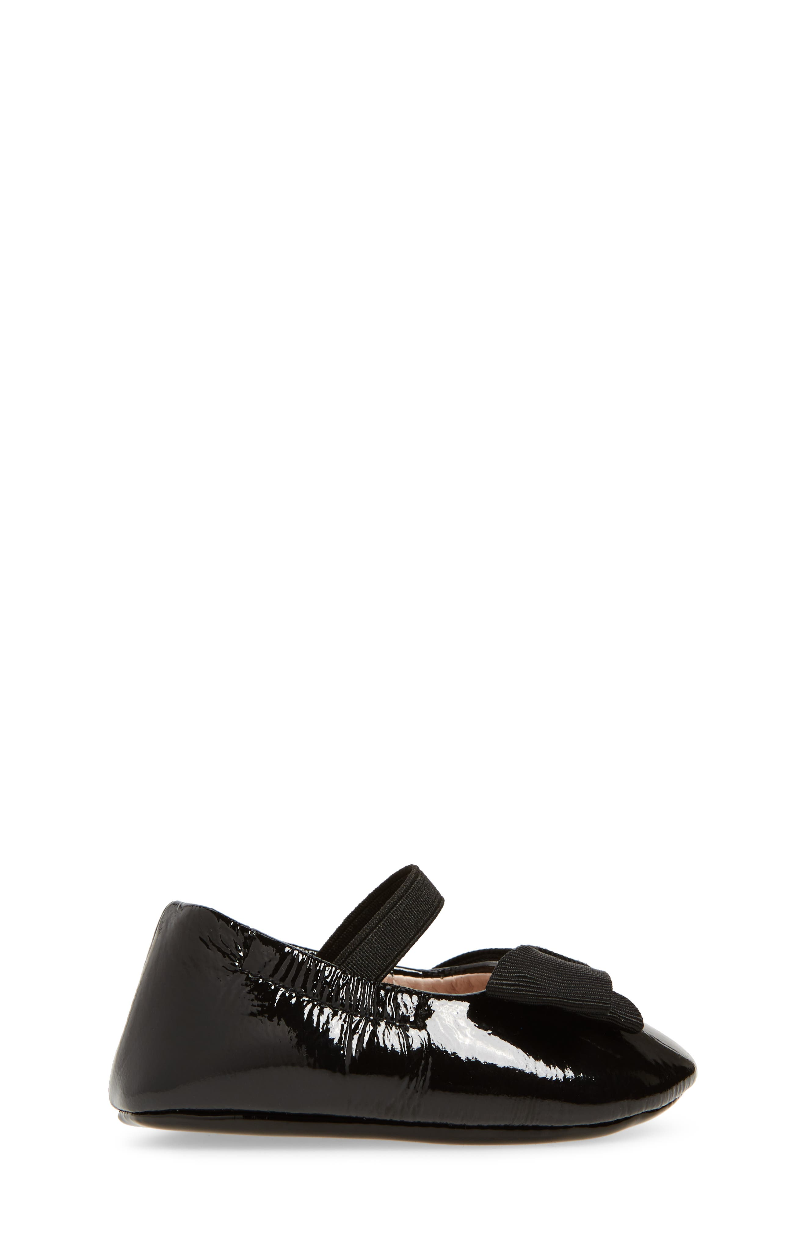 Lilia Mary Jane Flat,                             Alternate thumbnail 3, color,                             Black Patent Leather