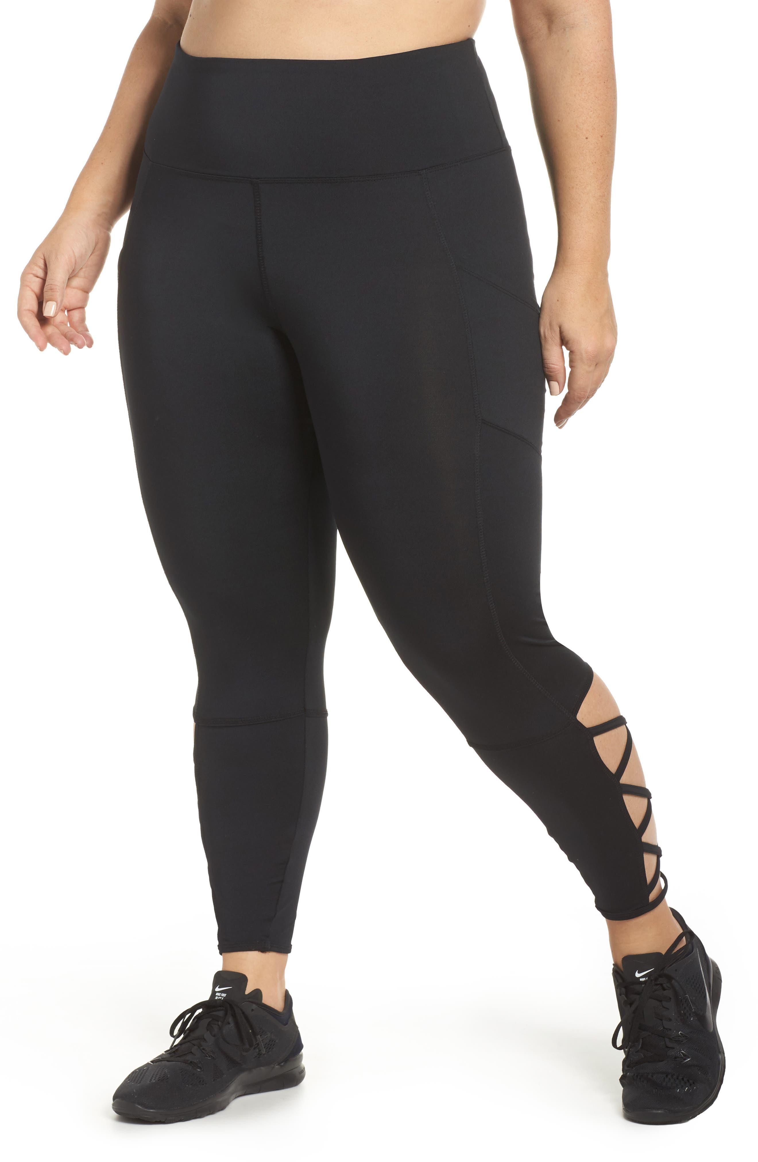 Lux Ankle Leggings,                         Main,                         color, Black