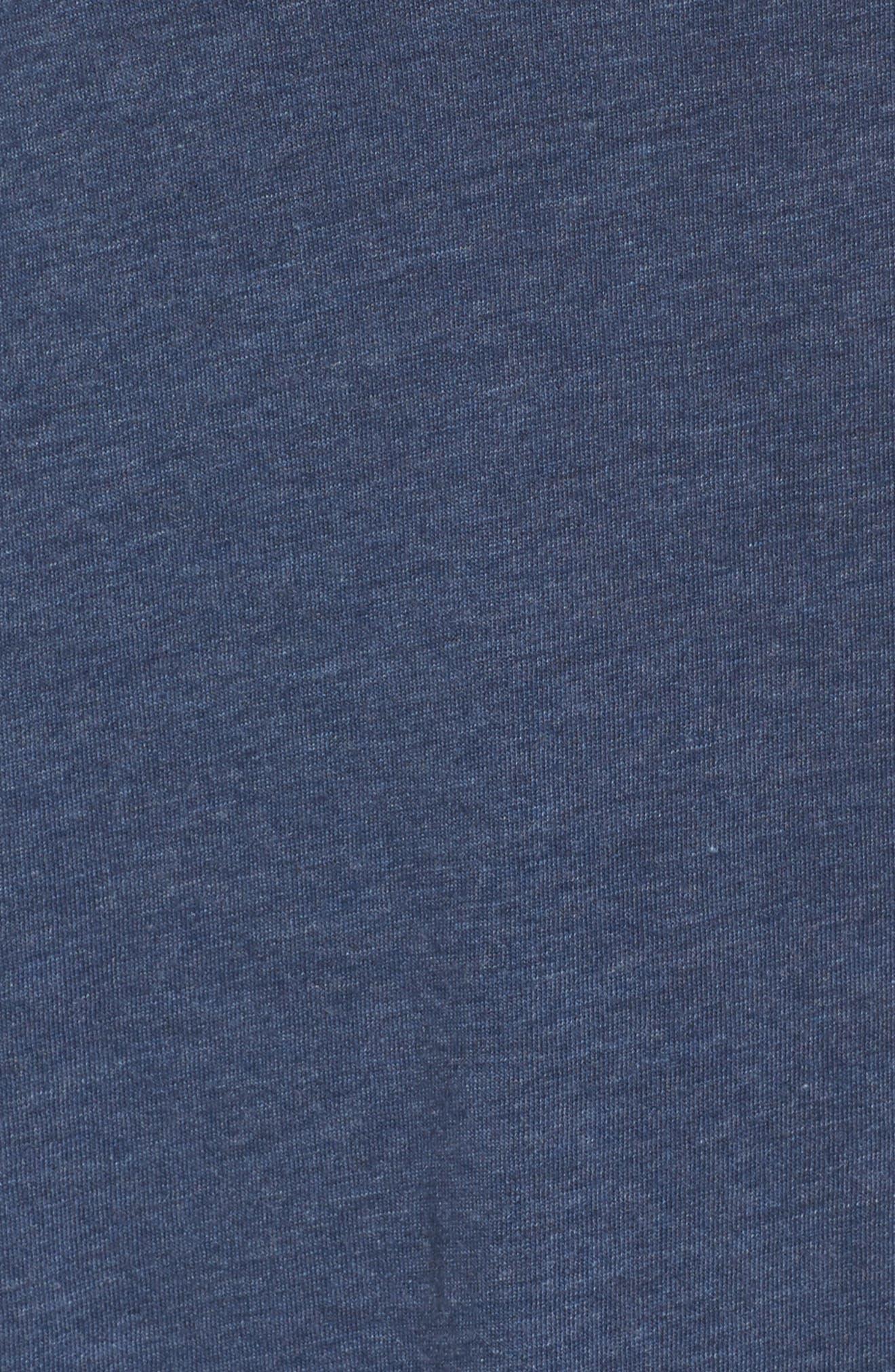 Jersey Chemise,                             Alternate thumbnail 5, color,                             Blue Melange