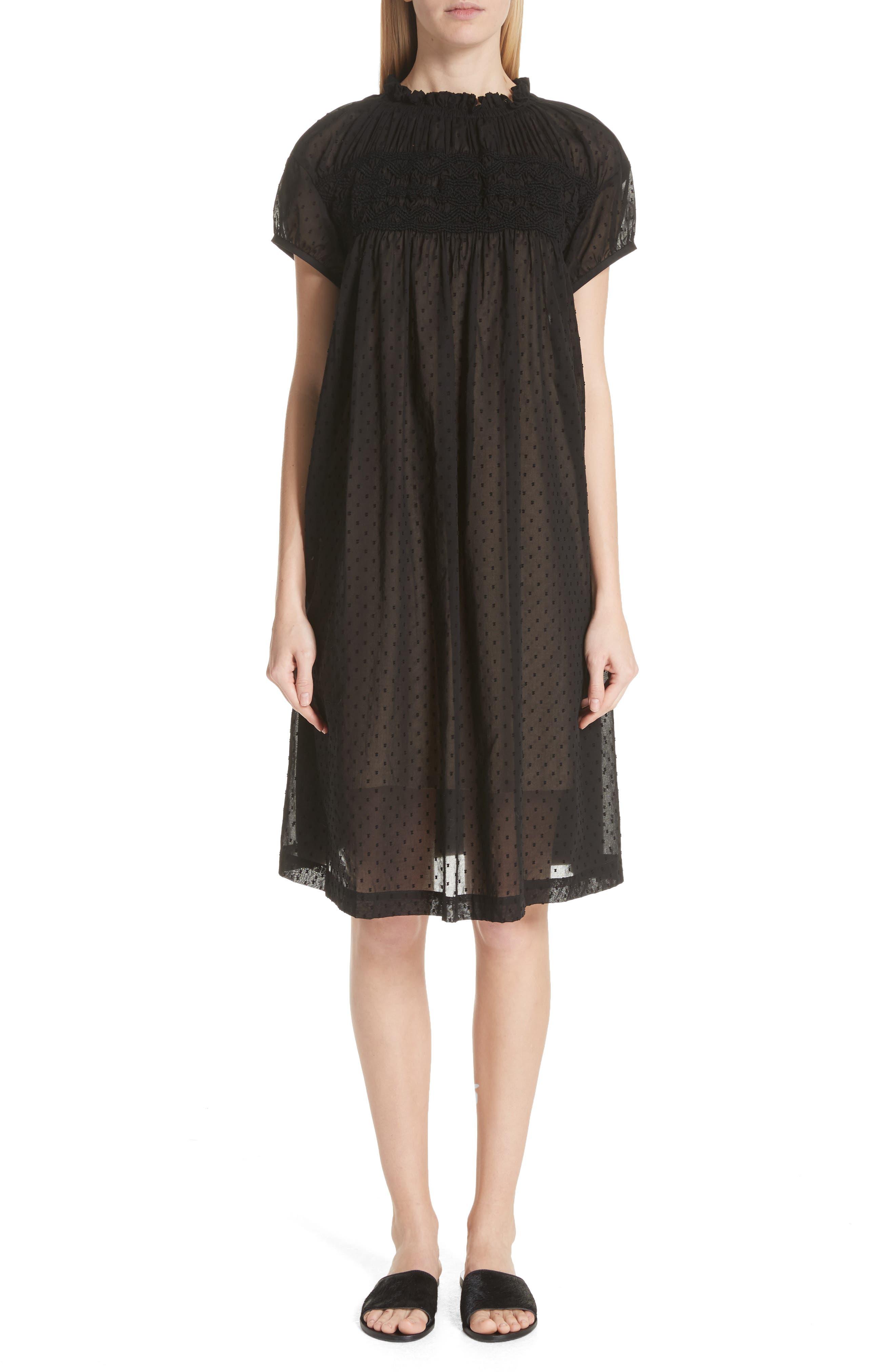 Tricot Comme des Garçons Sheer Embroidered Shift Dress