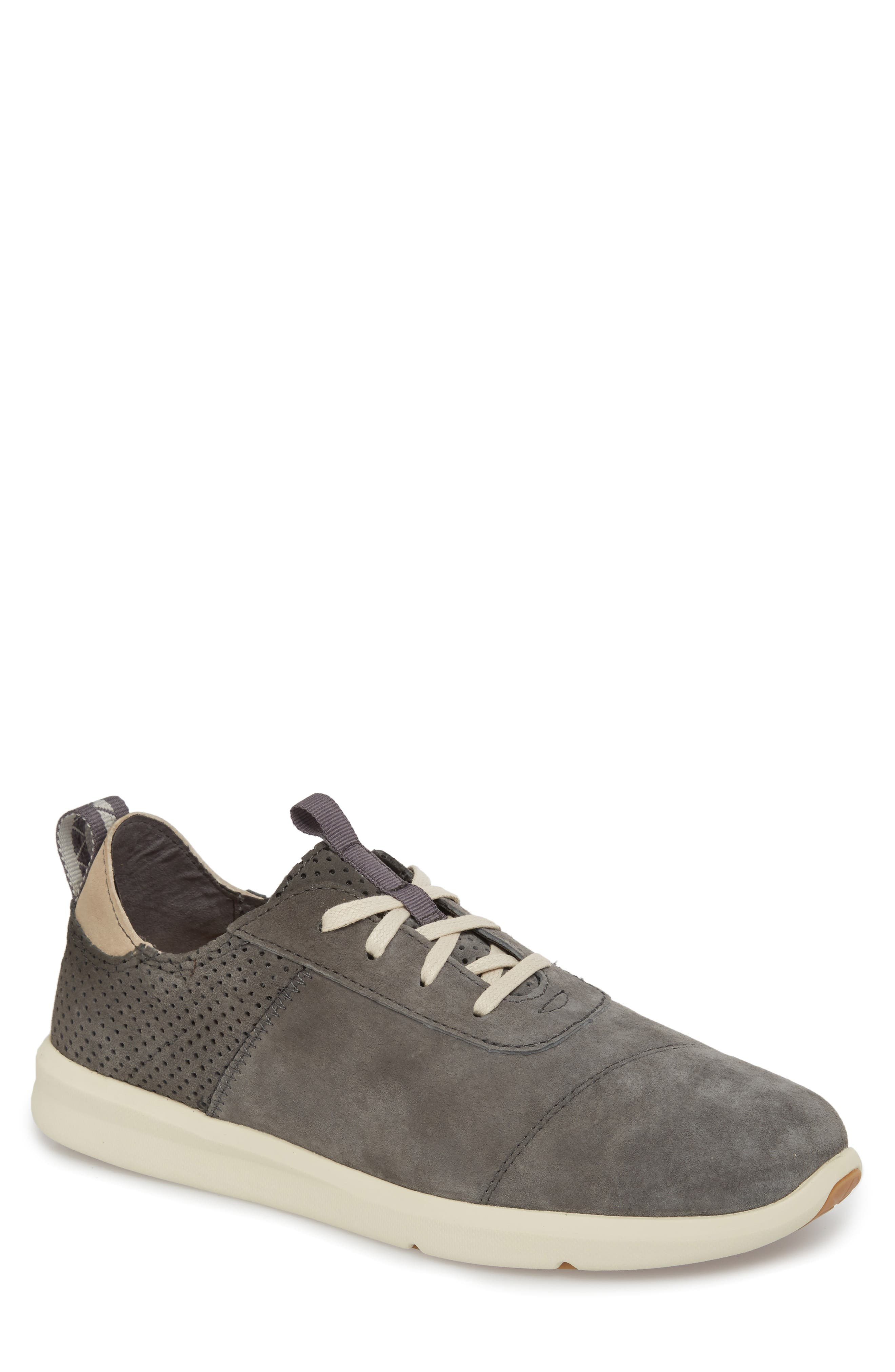 Cabrillo Perforated Low Top Sneaker,                             Main thumbnail 1, color,                             Shade Suede