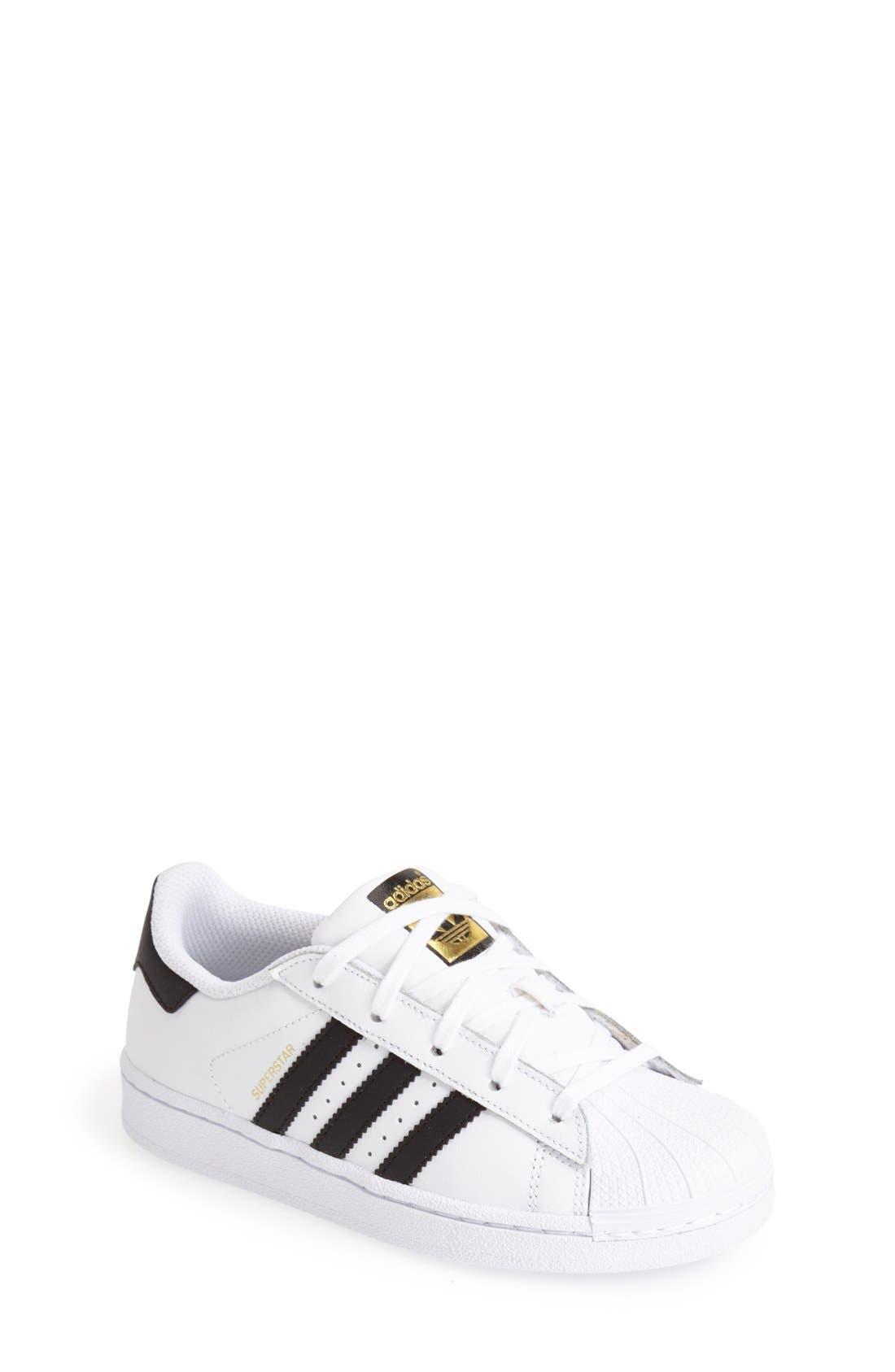 adidas shoes for girls black. adidas \u0027superstar c\u0027 sneaker (toddler shoes for girls black w