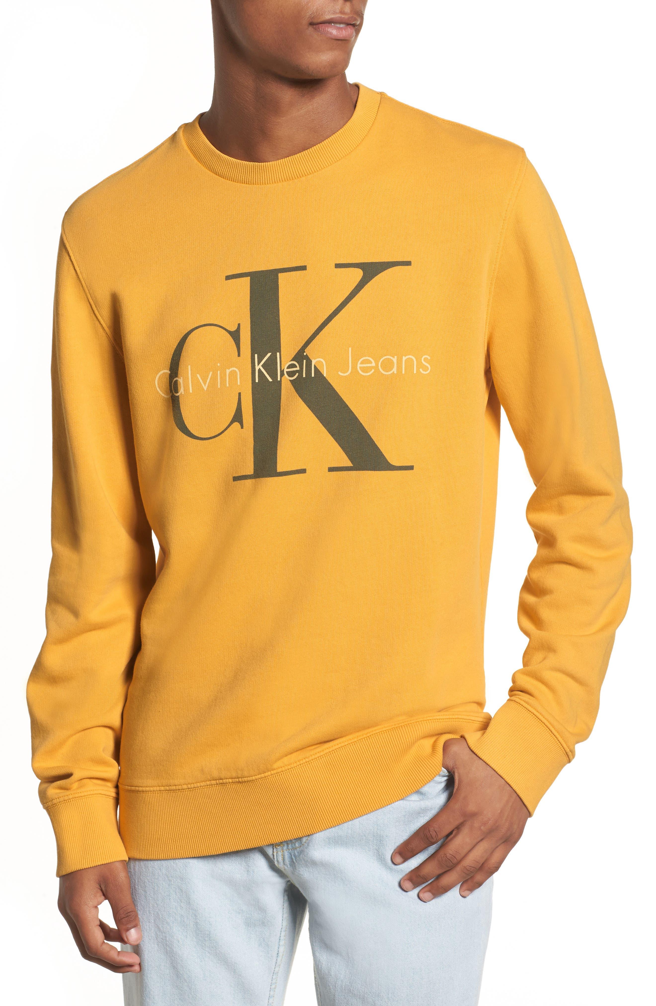 Pop Color Sweatshirt,                         Main,                         color, Spectra Yellow