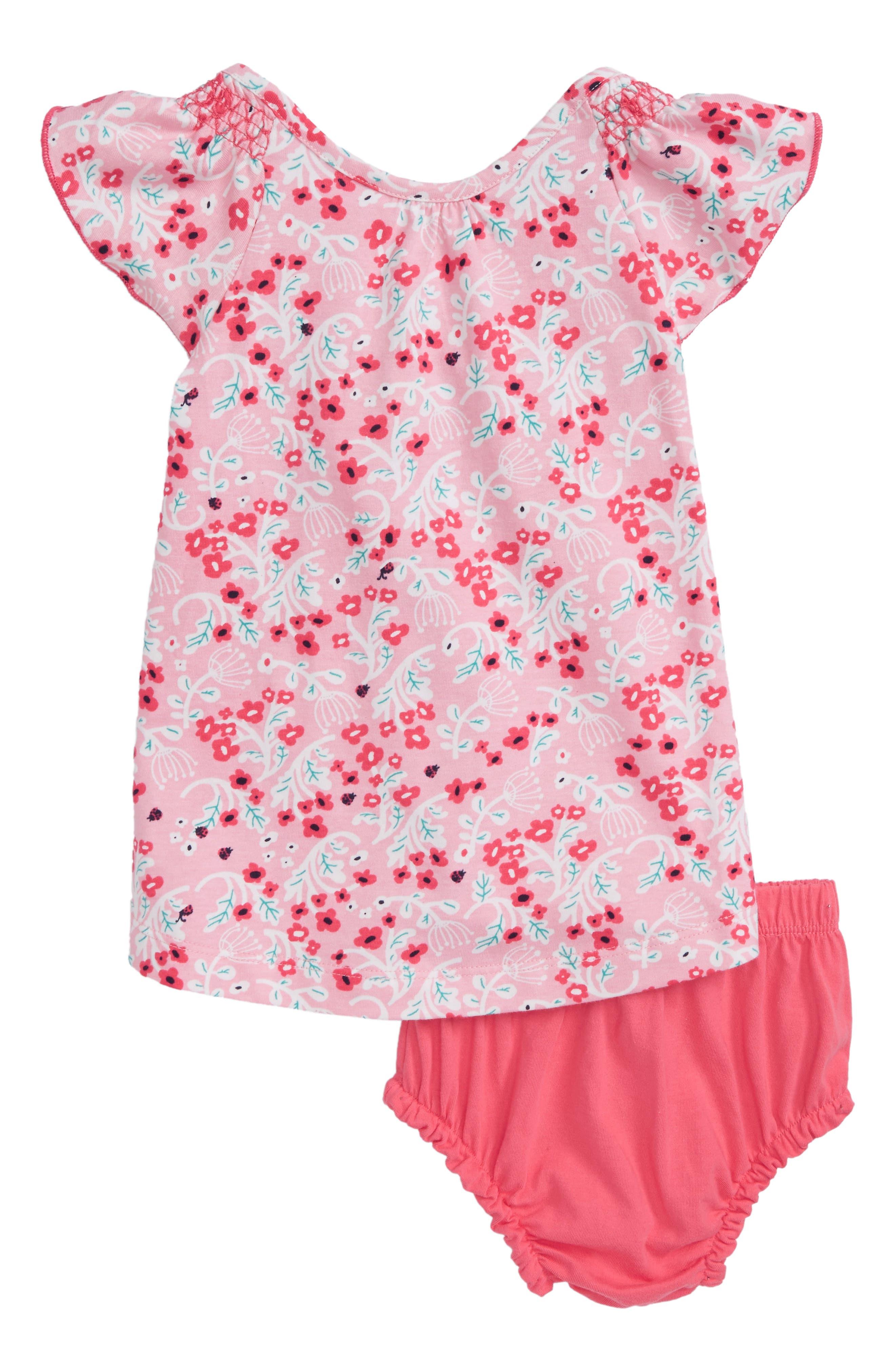 Flutter Sleeve Dress,                             Main thumbnail 1, color,                             Umbel Floral