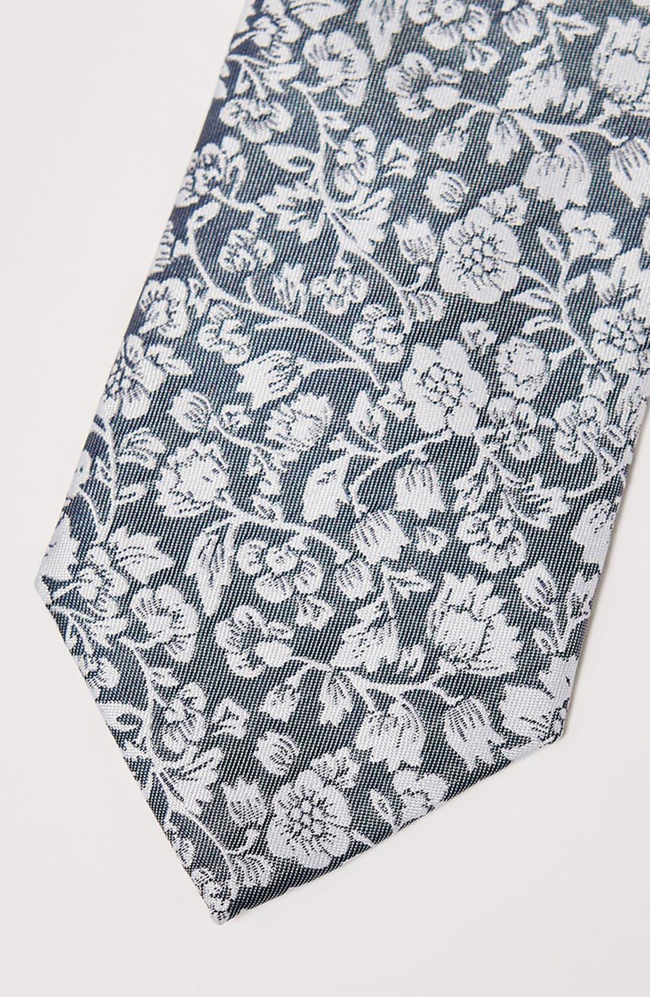 Floral Tie,                             Alternate thumbnail 2, color,                             Grey