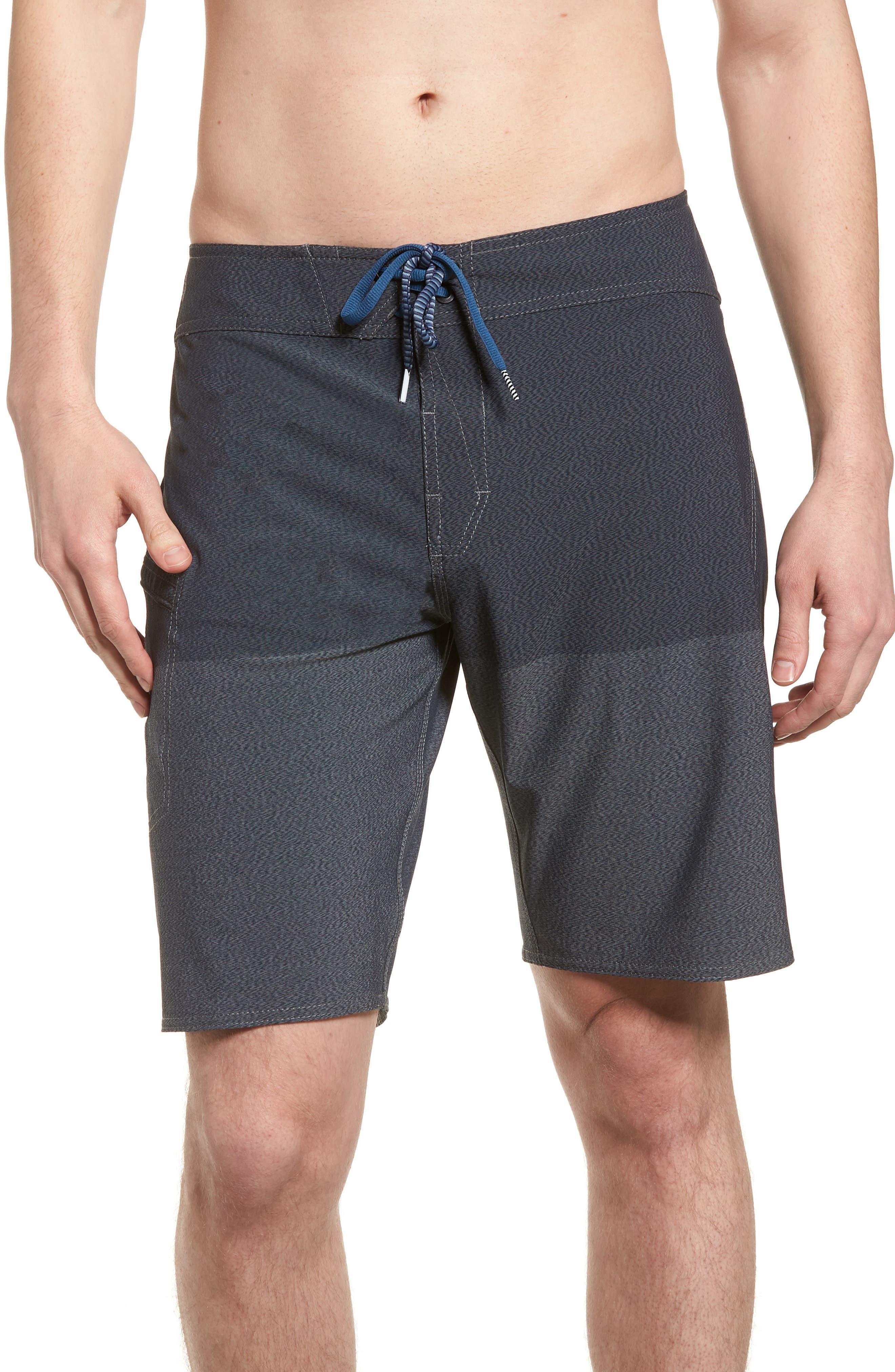Lido Heather Board Shorts,                         Main,                         color, Blue Smoke