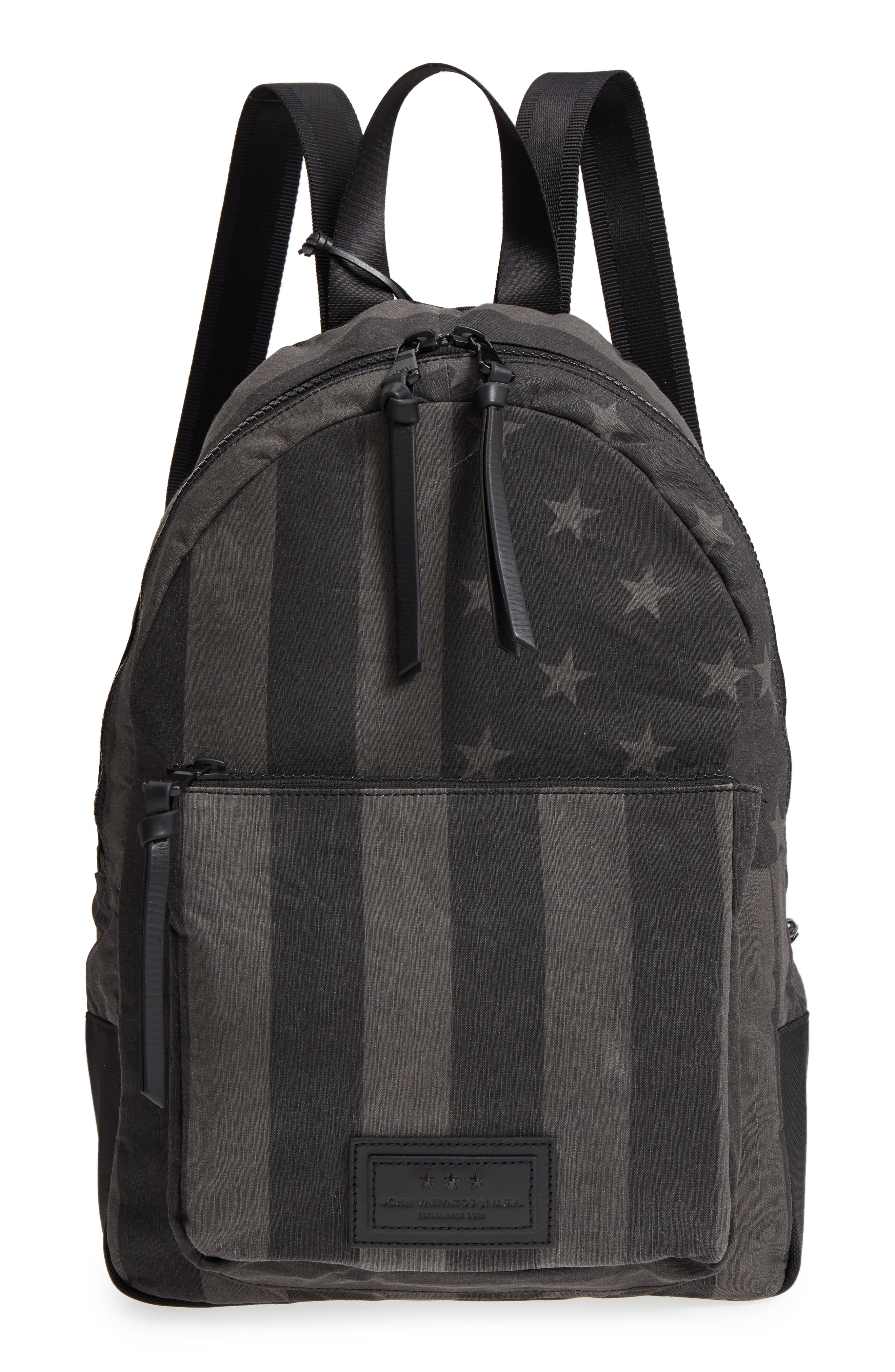Gibson Flag Print Backpack,                         Main,                         color, Charcoal