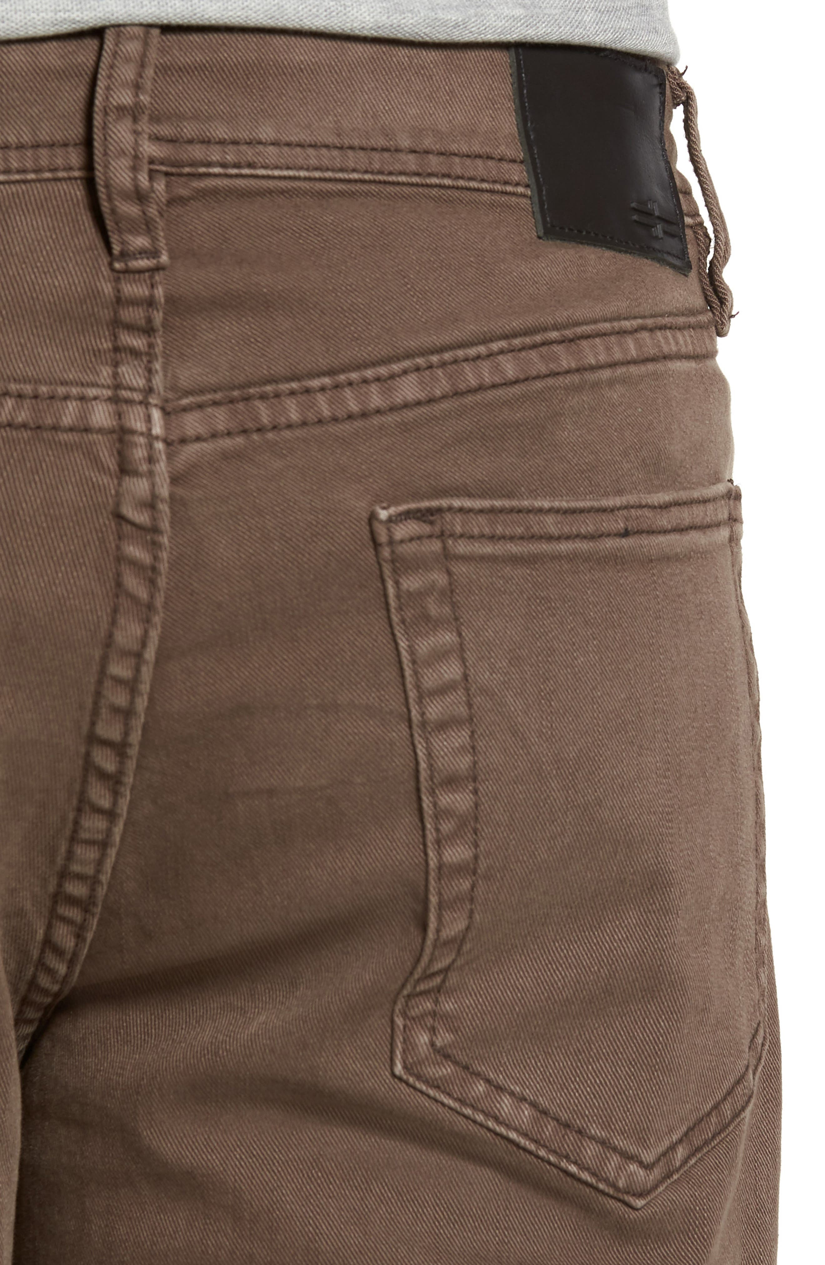 Jeans Co. Regent Relaxed Fit Jeans,                             Alternate thumbnail 4, color,                             Tobacco Leaf
