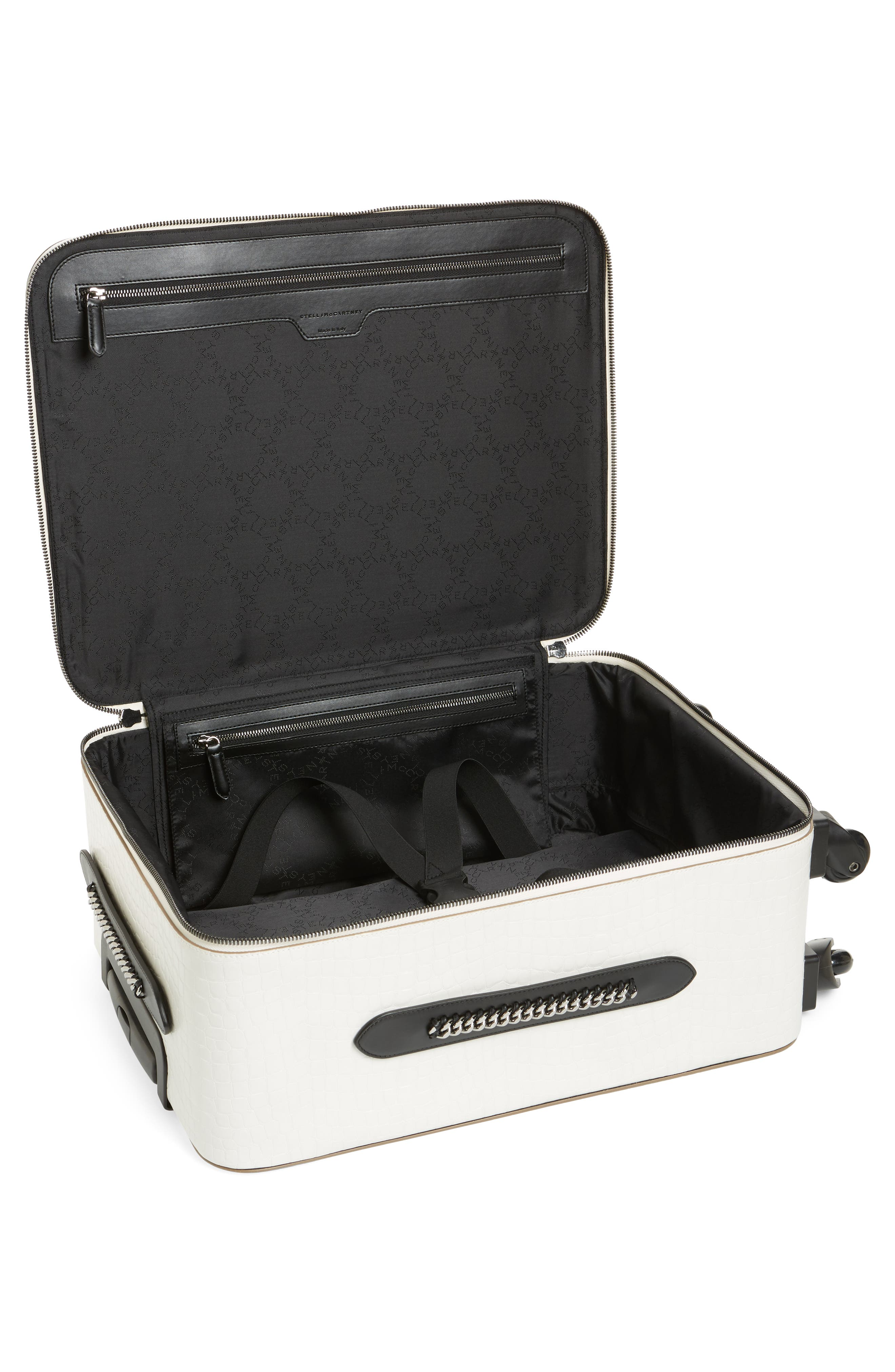 20-Inch Alter Croc Faux Leather Trolley Case,                             Alternate thumbnail 2, color,                             Ivory