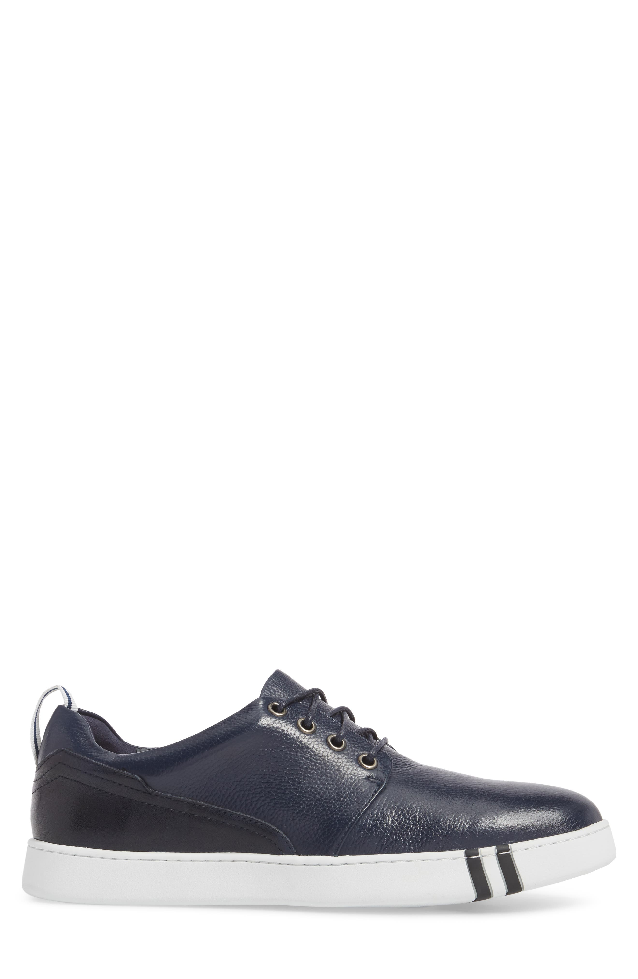 Kings Low Top Sneaker,                             Alternate thumbnail 3, color,                             Navy Leather