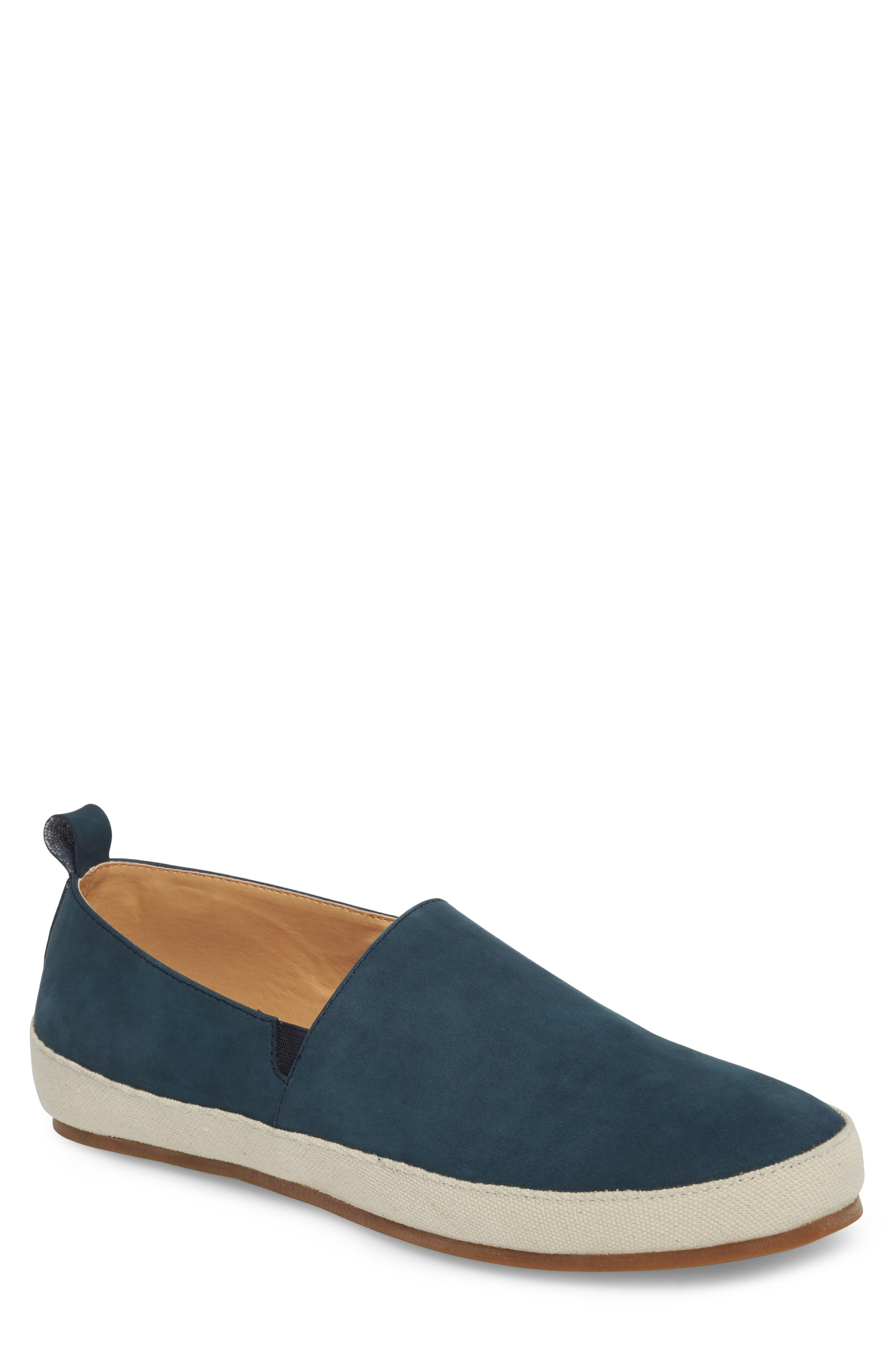 Wynne Slip-On,                             Main thumbnail 1, color,                             Navy Suede